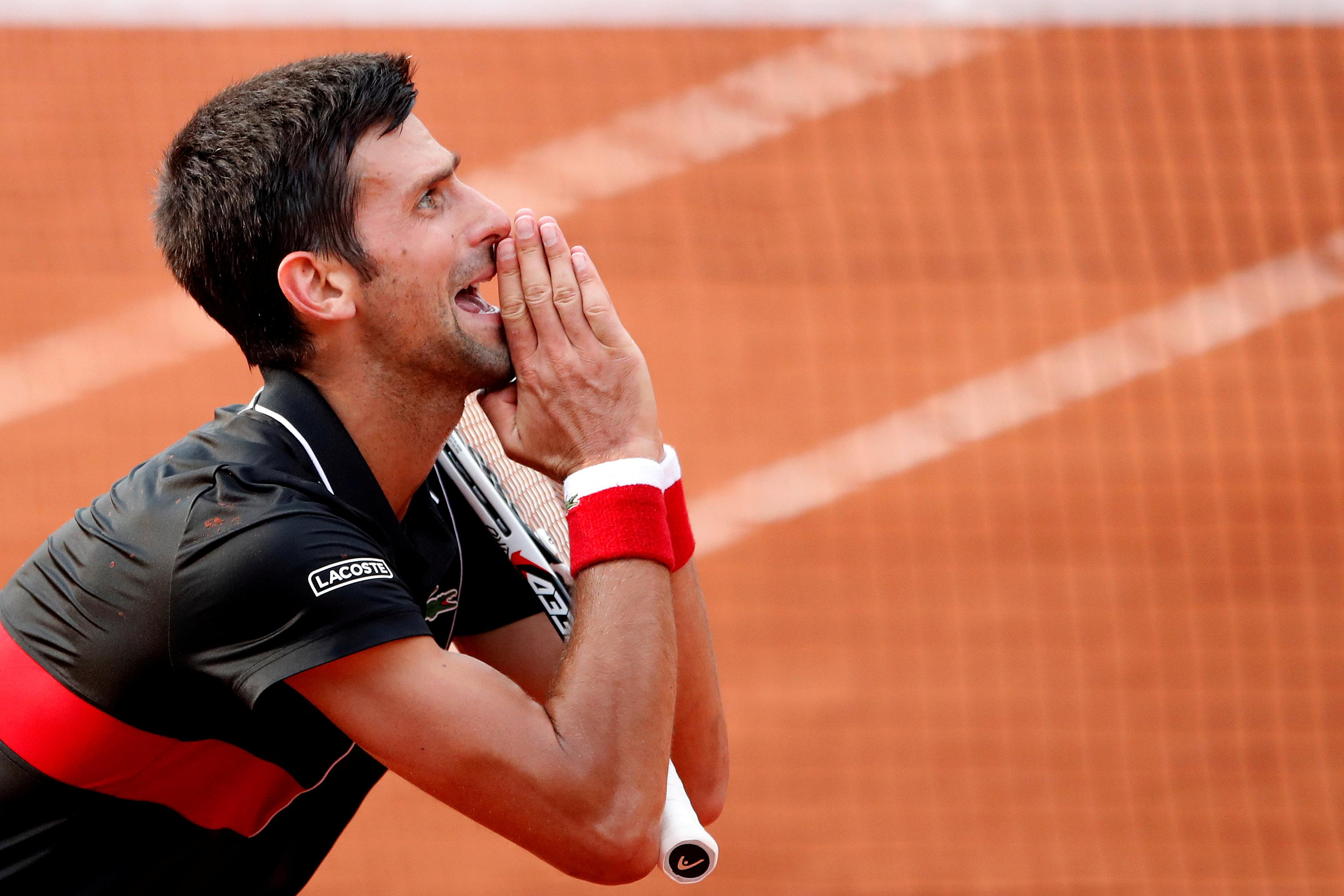 Djokovic could do little as he succumbed to defeat