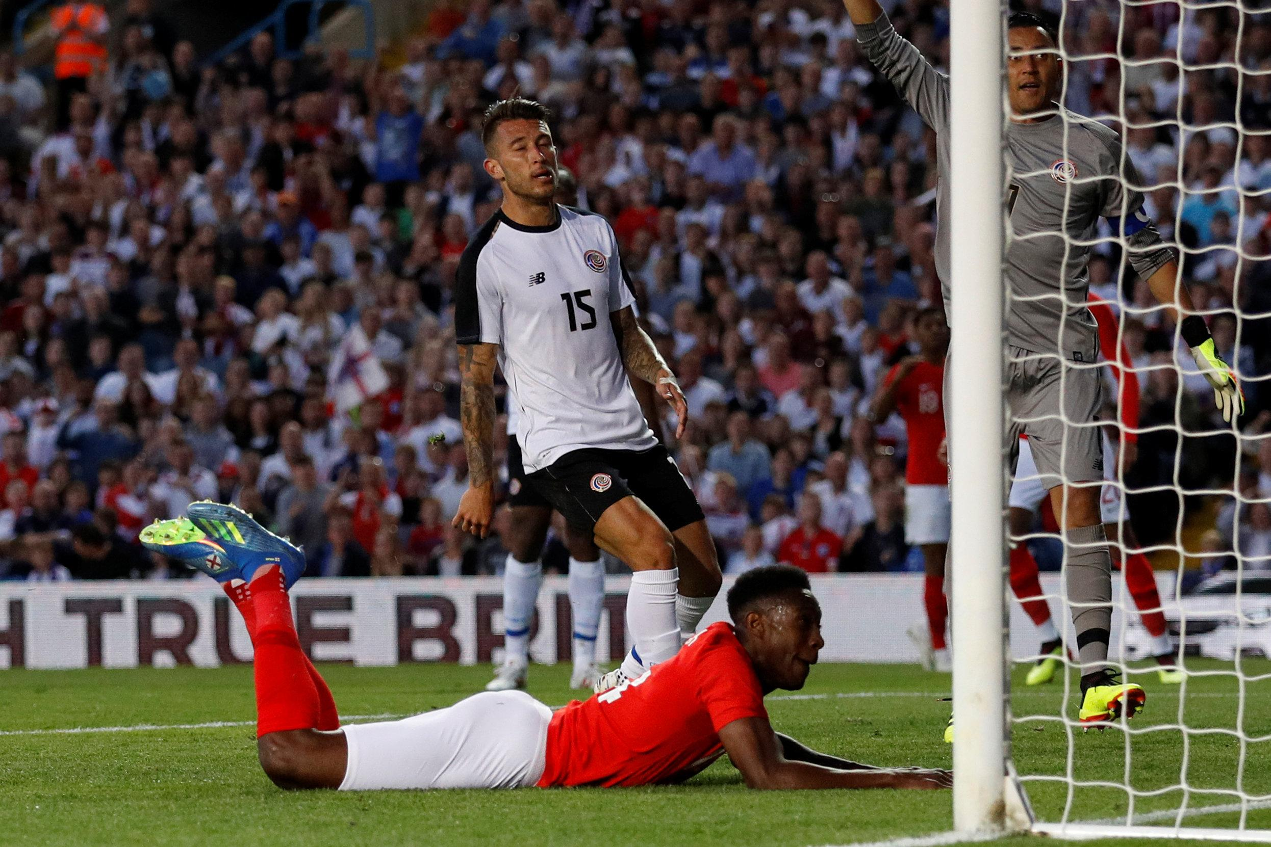 Danny Welbeck came off the bench to score a diving header as England sealed a comfortable win over Costa Rica
