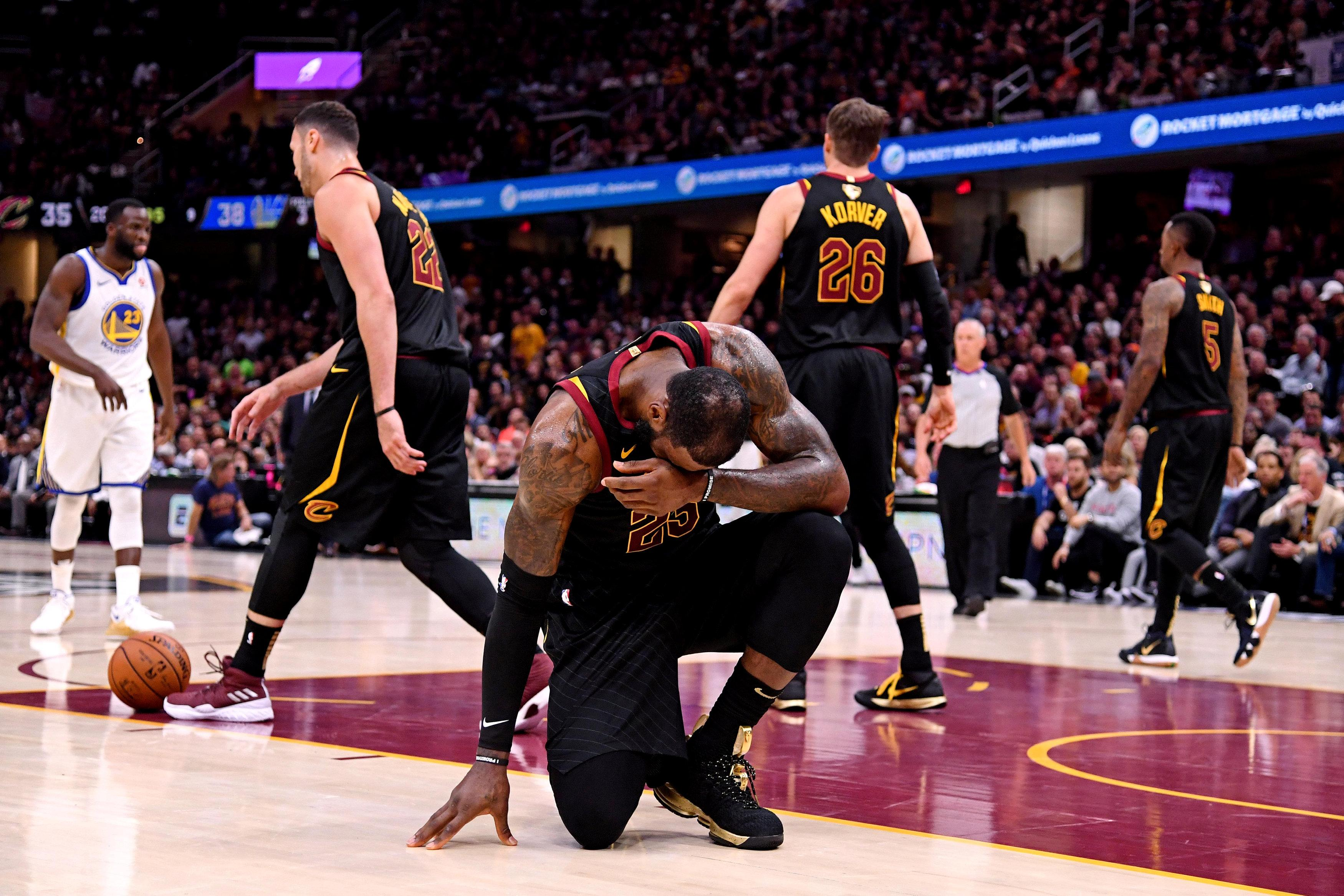 Cleveland were outclassed by the Warriors
