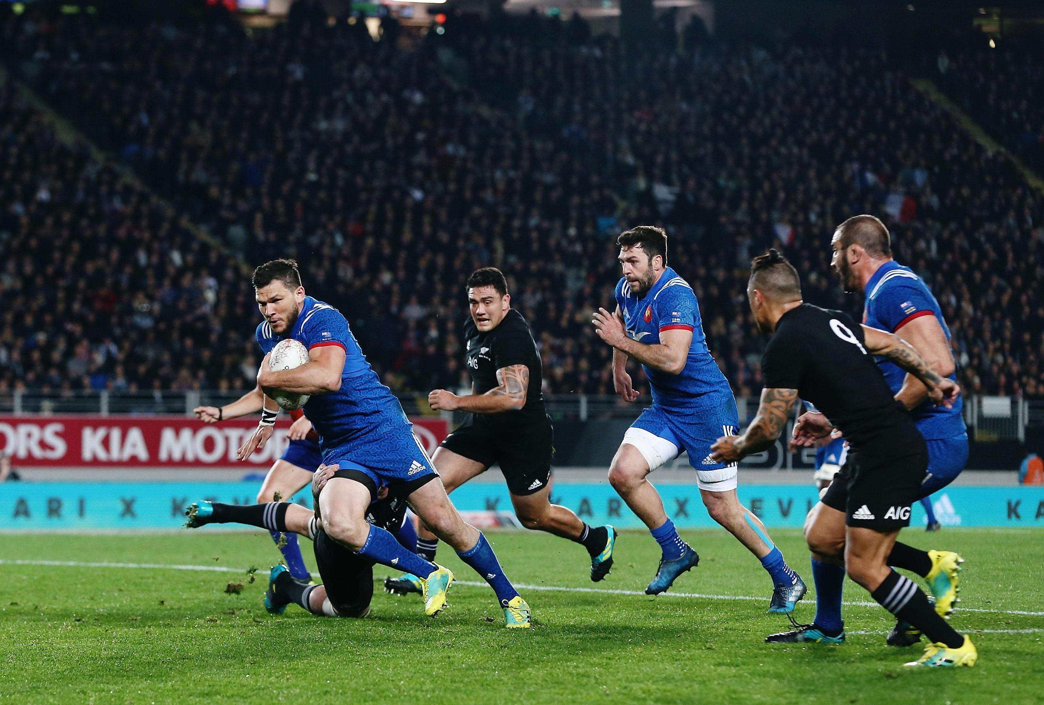 Grosso scored the opening try of the game as France started fast but it all unravelled after they suffered a yellow card
