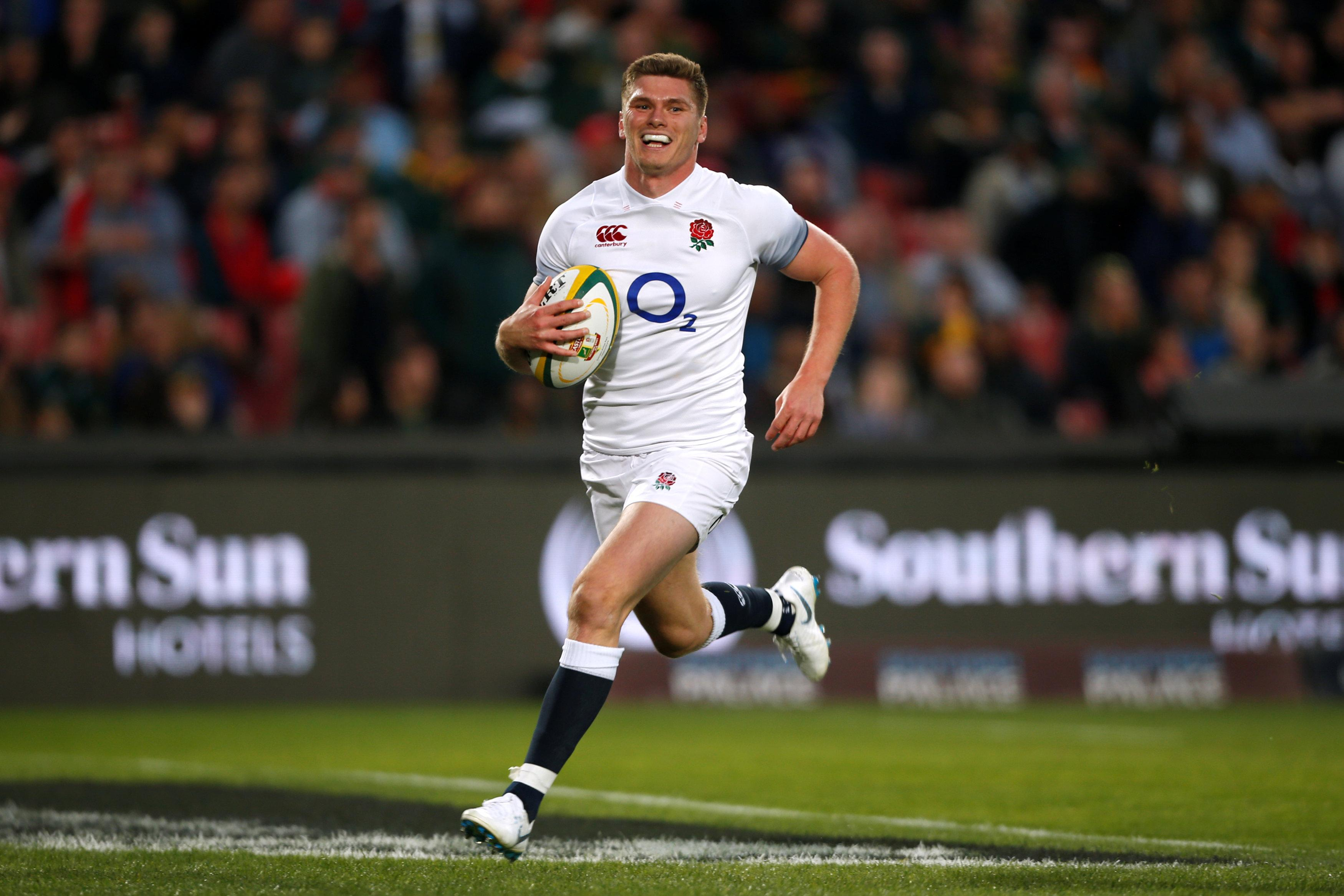 Owen Farrell scored a try in the 18th minute to put England 24-3 up