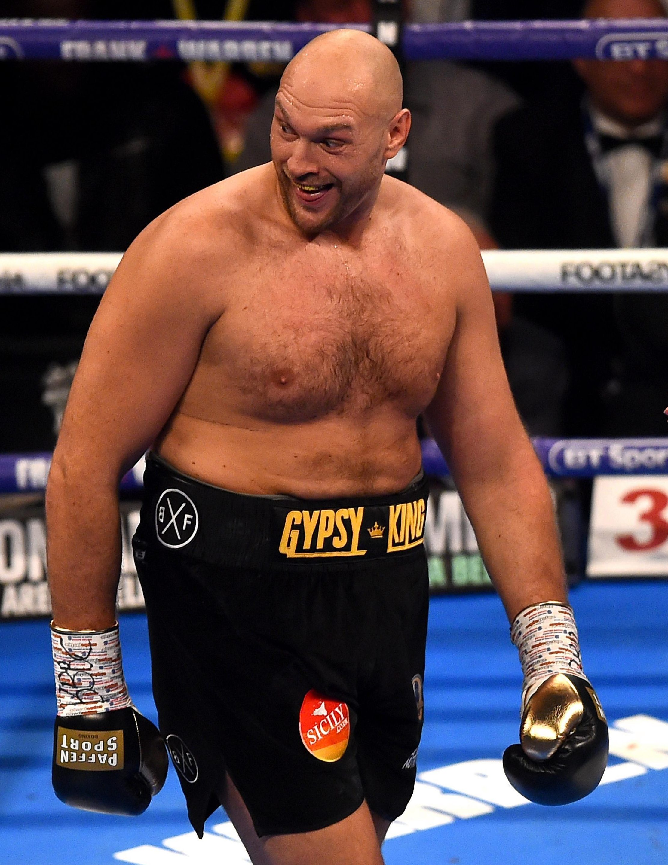 Frank Warren says Tyson Fury still needs to lose more weight, despite him shedding eight-and-a-half stones