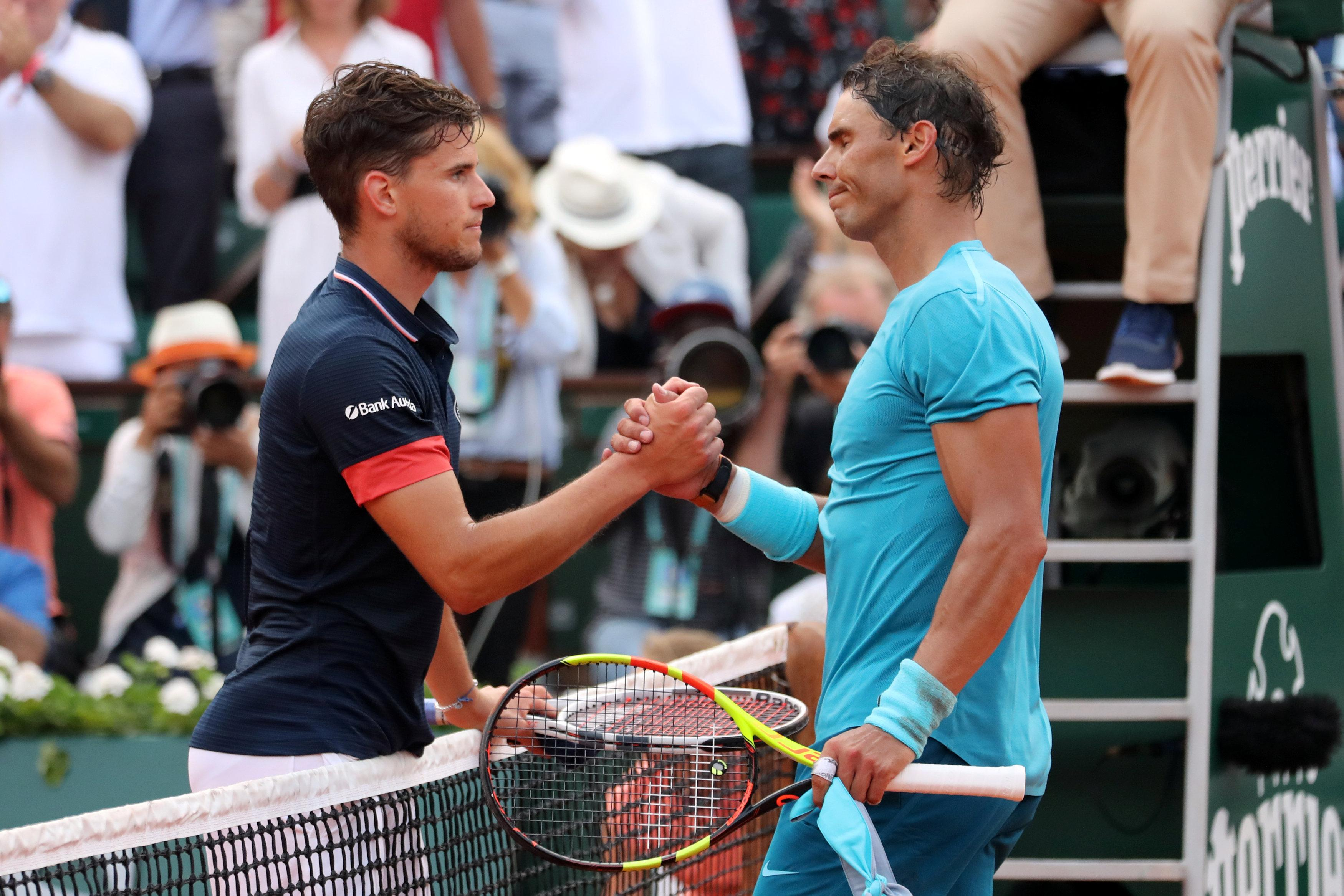 Nadal congratulated Thiem and called him an aggressive, tough opponent who he thought would win at Roland Garros in the future