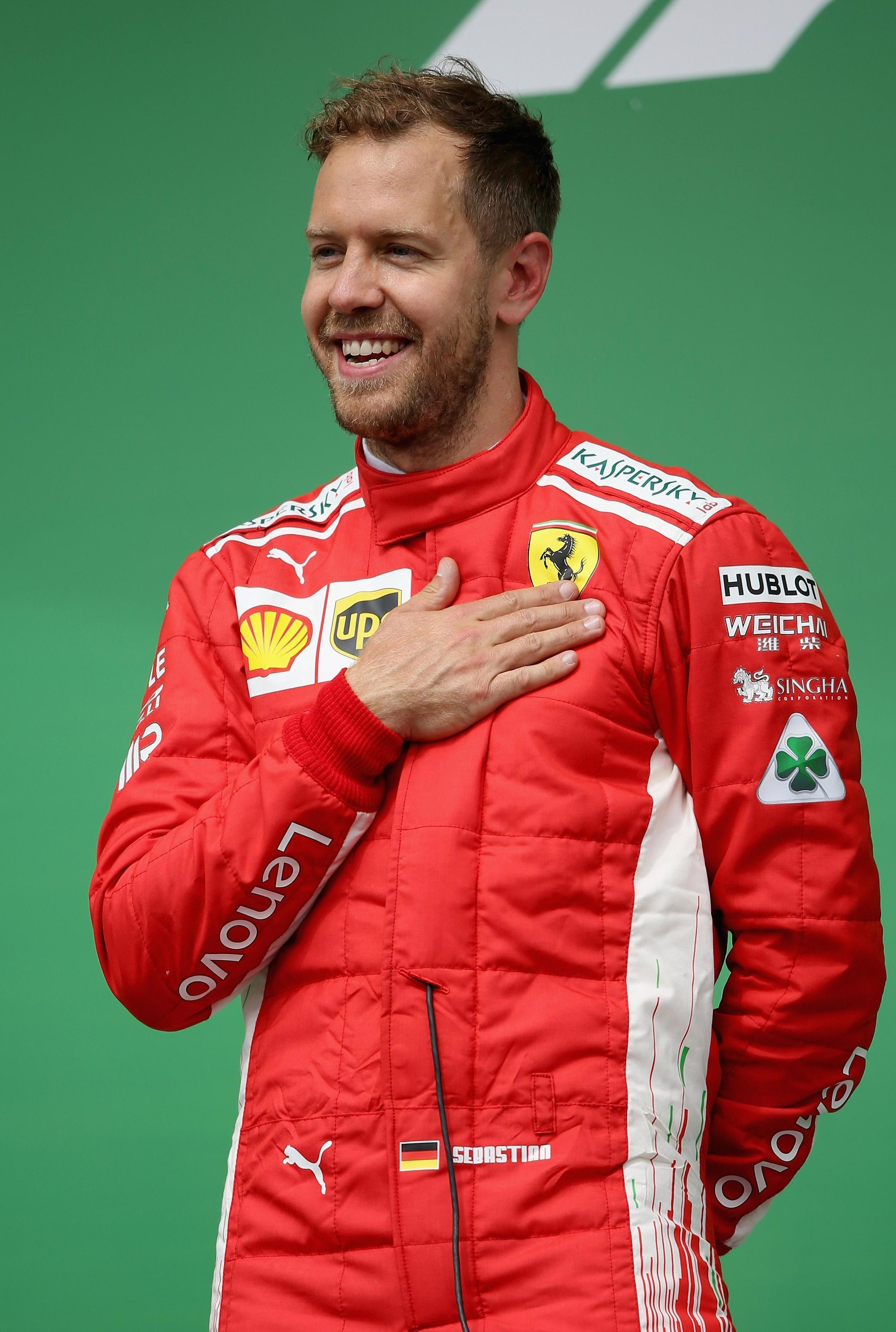 Sebastian Vettel is one point ahead of Hamilton in this year's race for the title