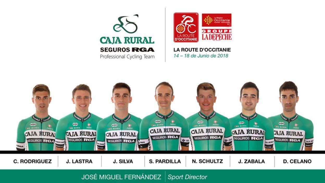 The Caja Rural team that Danilo Celna rides for