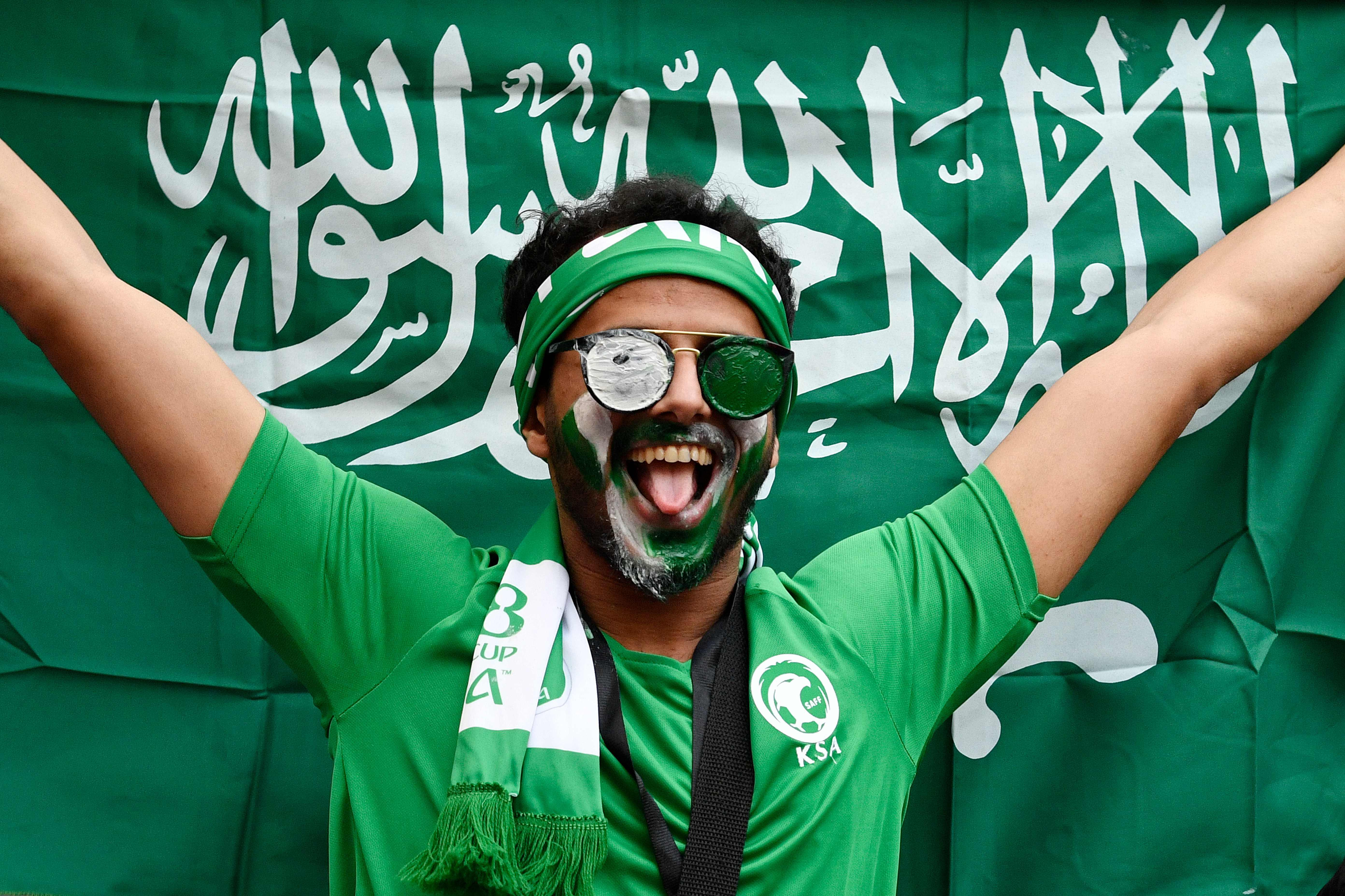 Saudi Arabia fans made sure their presence was felt for the opener against host nation Russia