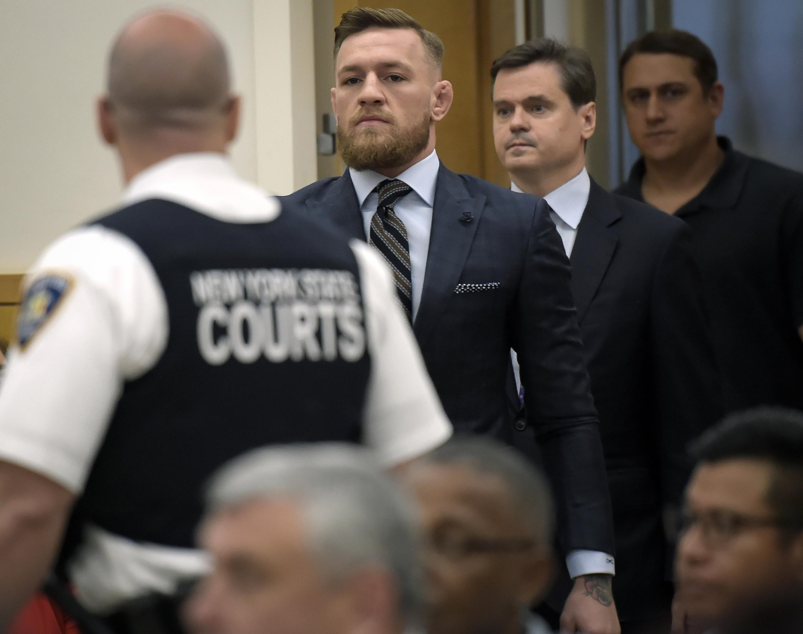 McGregor was only in the court room for a few minutes