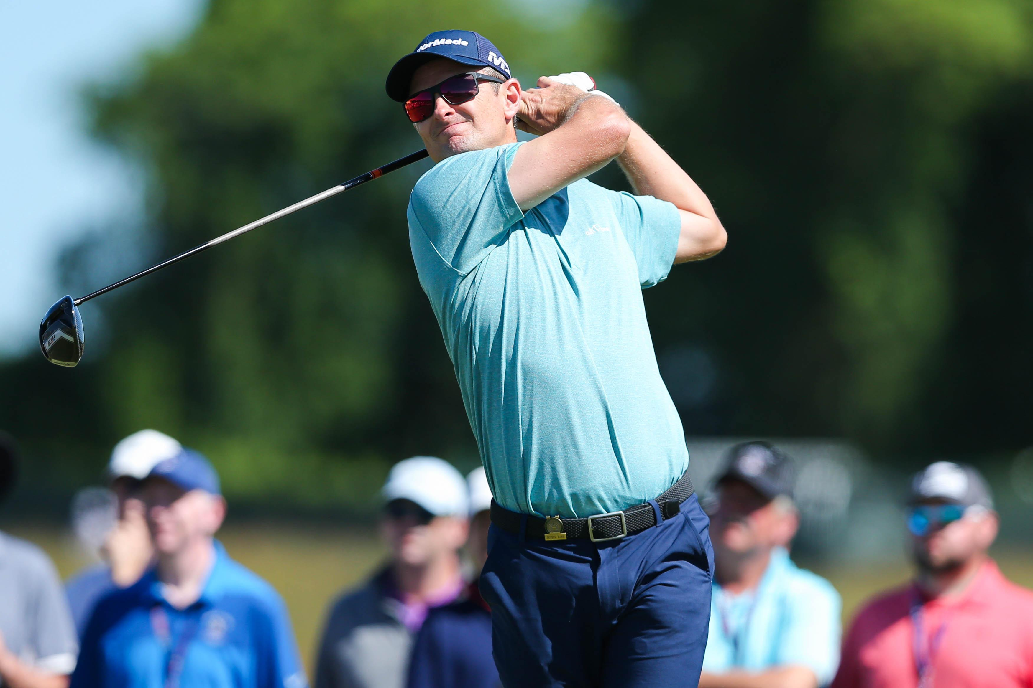 Justin Rose, pictured, and Ian Poulter flew the flag for England