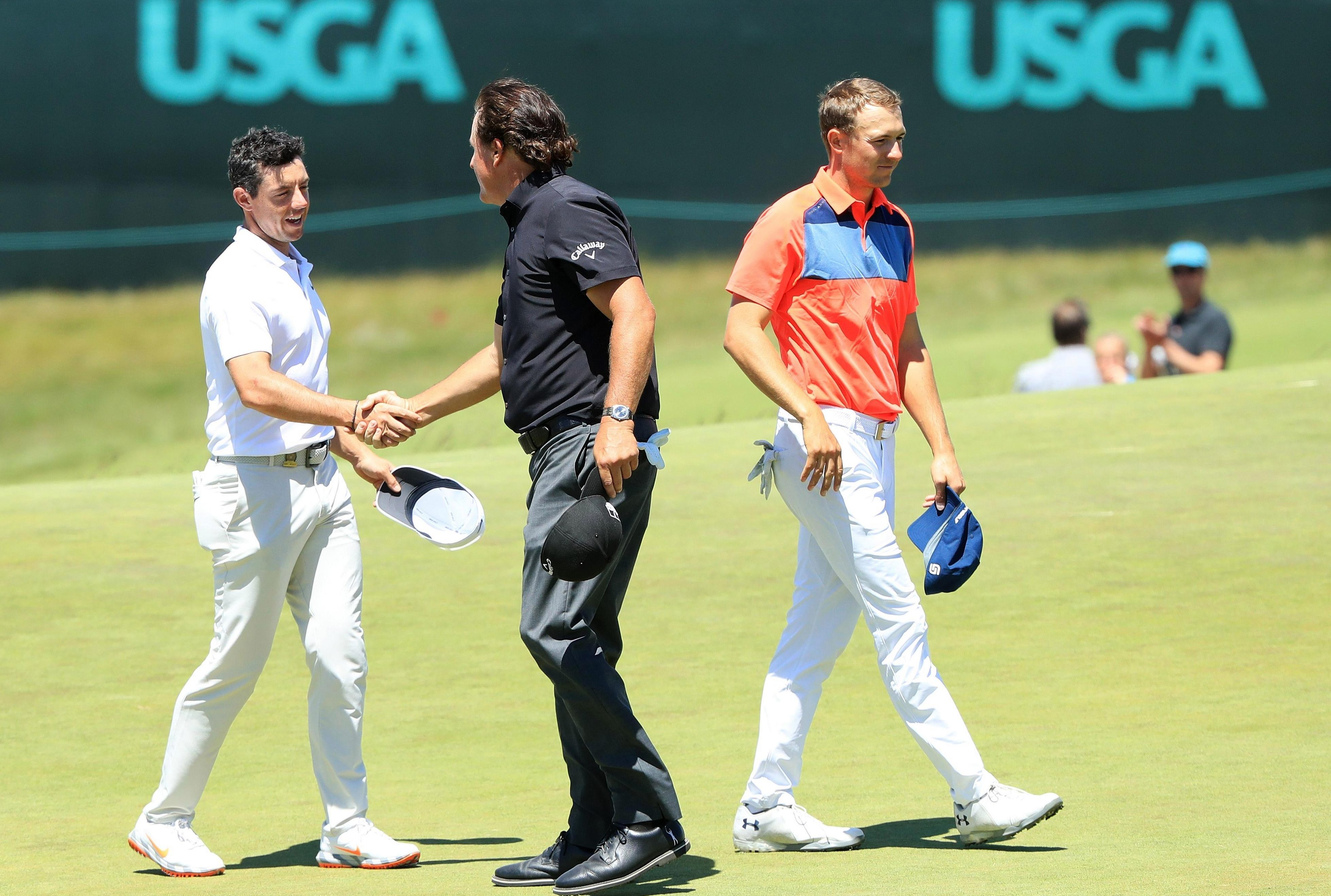 There was plenty of experience in Rory McIlroy's group