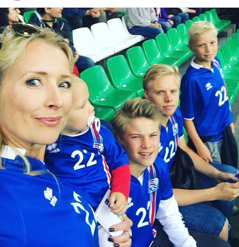 The Gudjohnsen family watched Eidur in action at Euro 2016 - but they could be playing for their country in the future