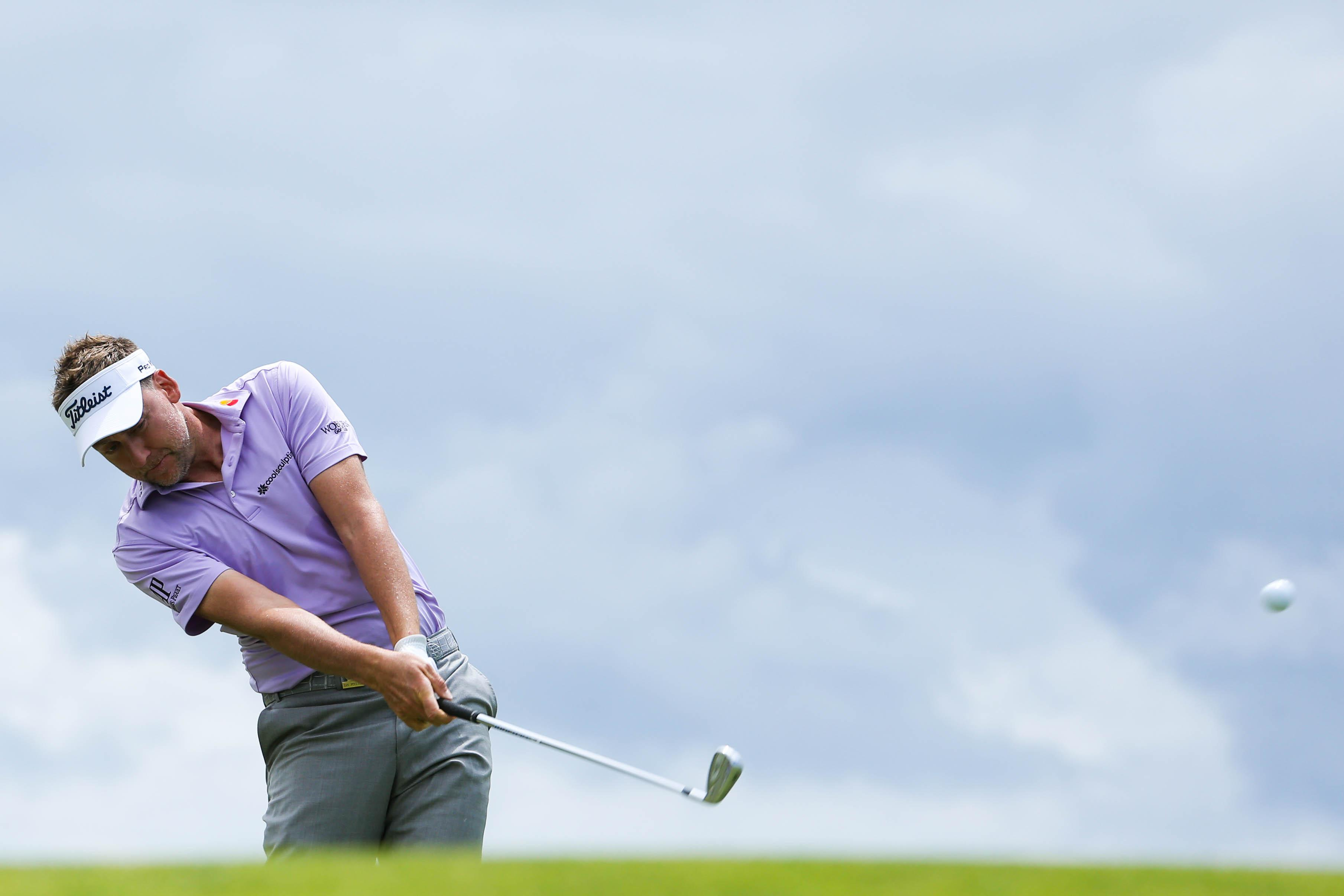 Ian Poulter was on a roll with three birdies in four holes before the breakdown