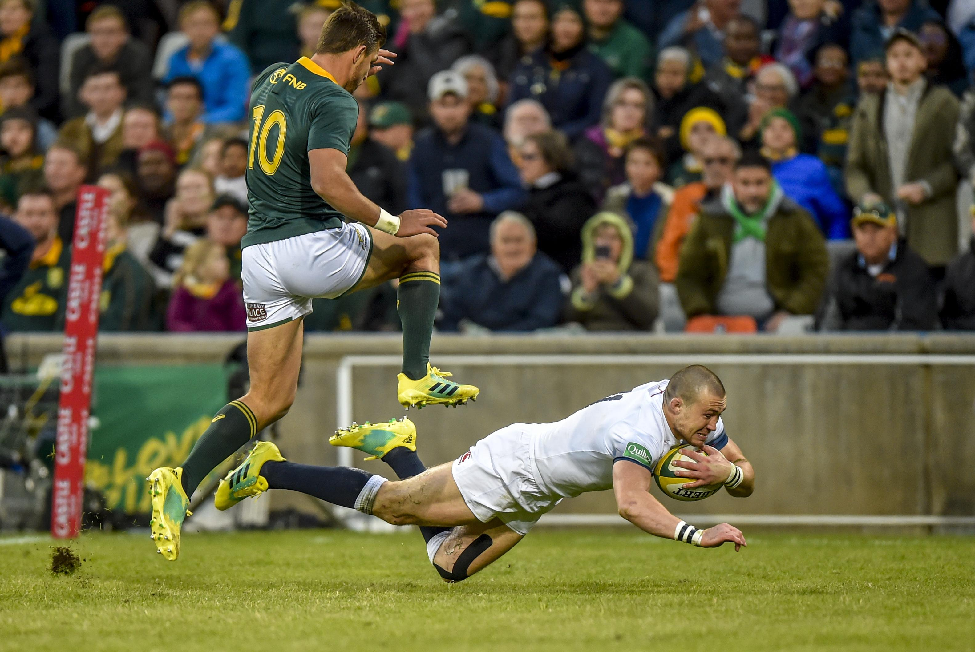 Brown, 32, scored a try during the recent 23-12 defeat against South Africa