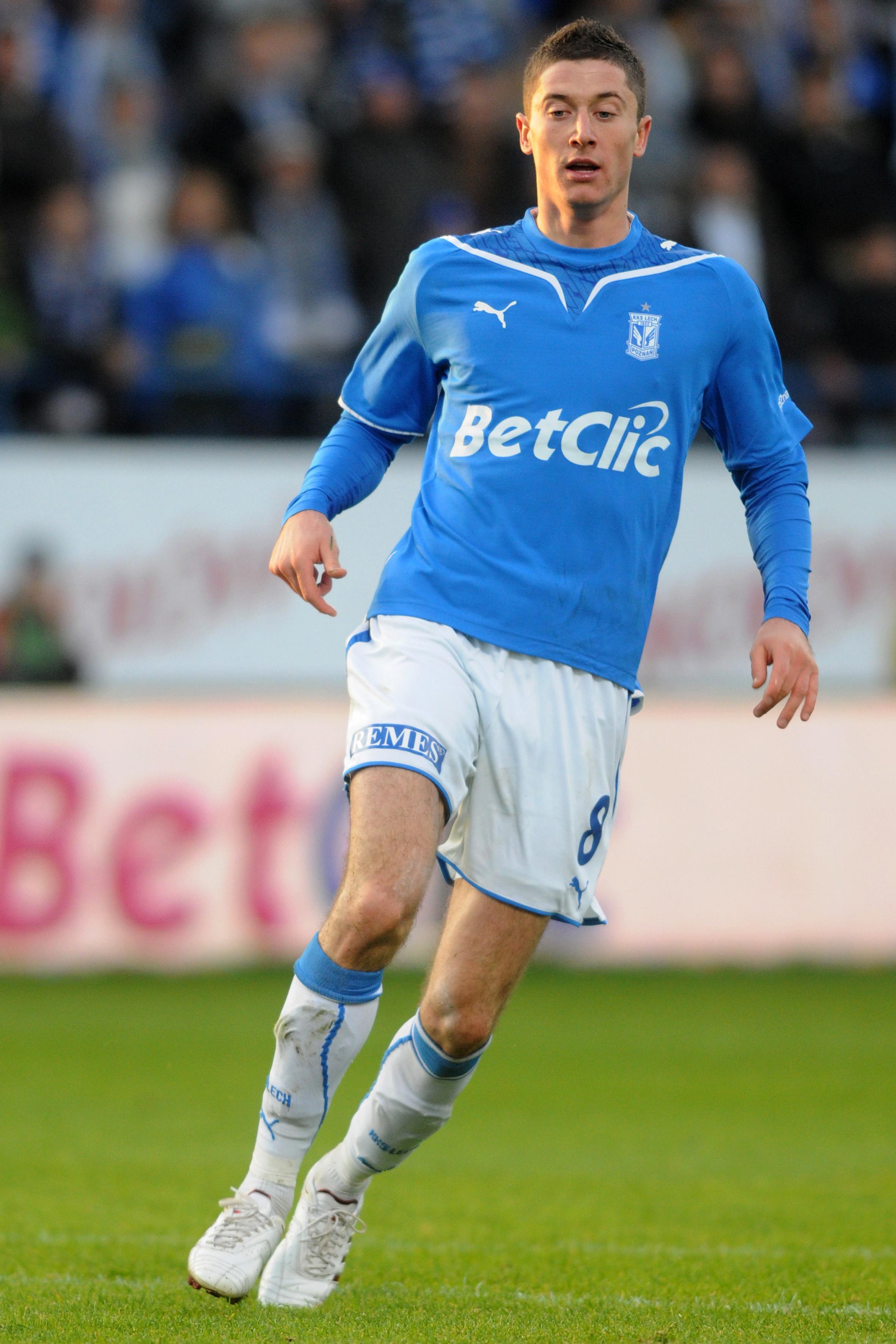 At Lech Poznan, Robert Lewandowski scored 41 goals in 82 games