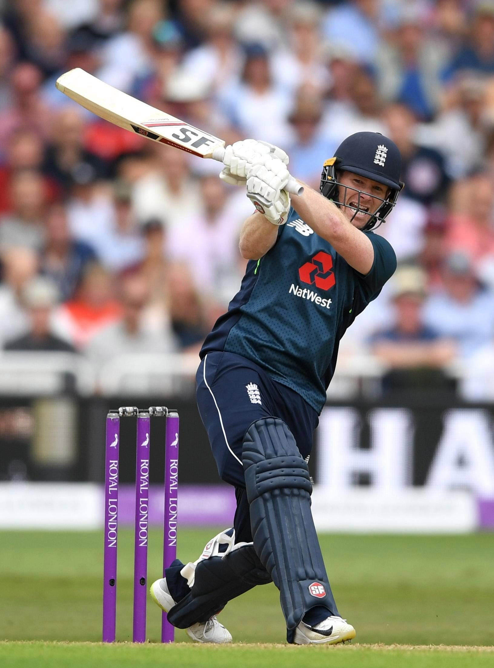 Eoin Morgan became Englands all-time leading ODI run scorer as he joined the party