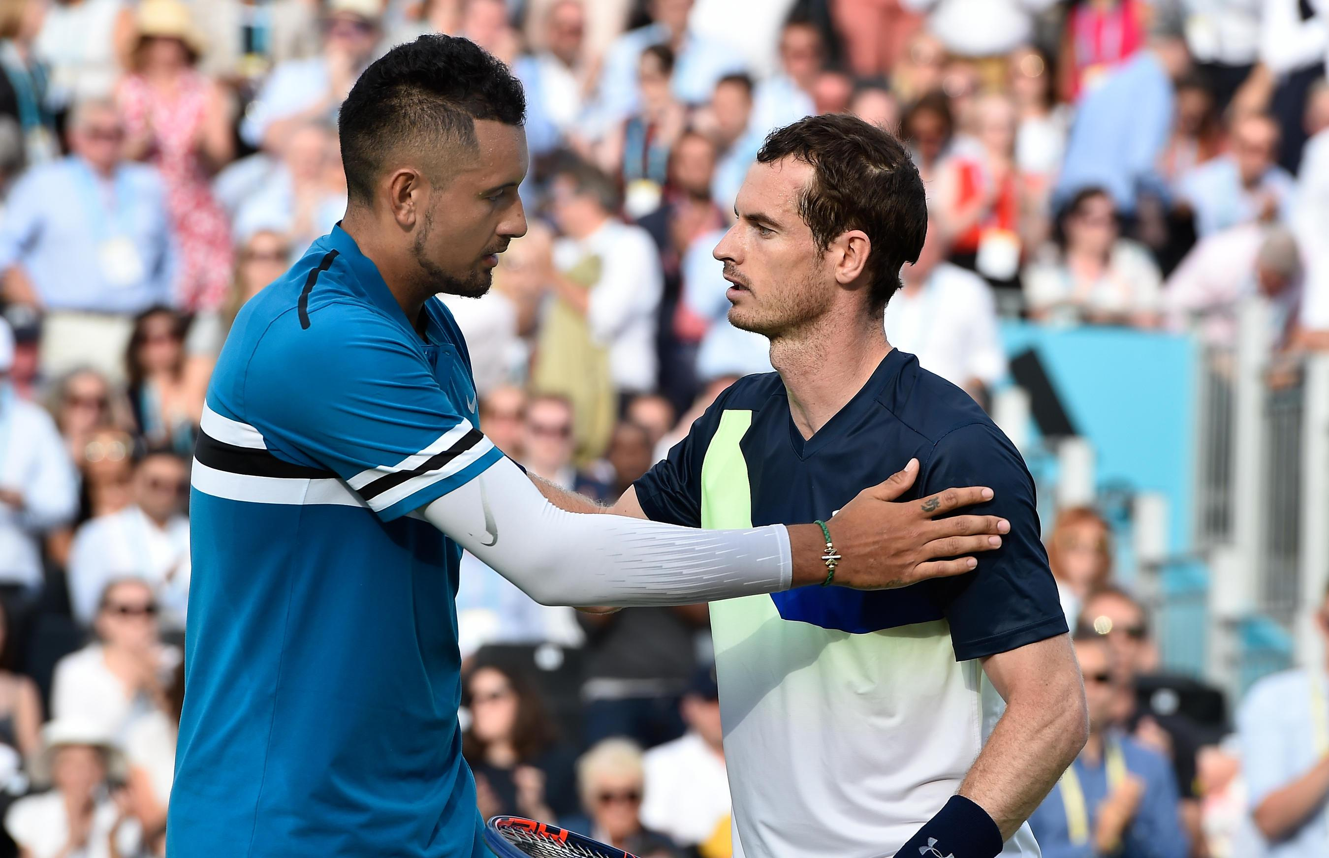 Andy Murray was beaten in three sets by Nick Kyrgios at Queen's