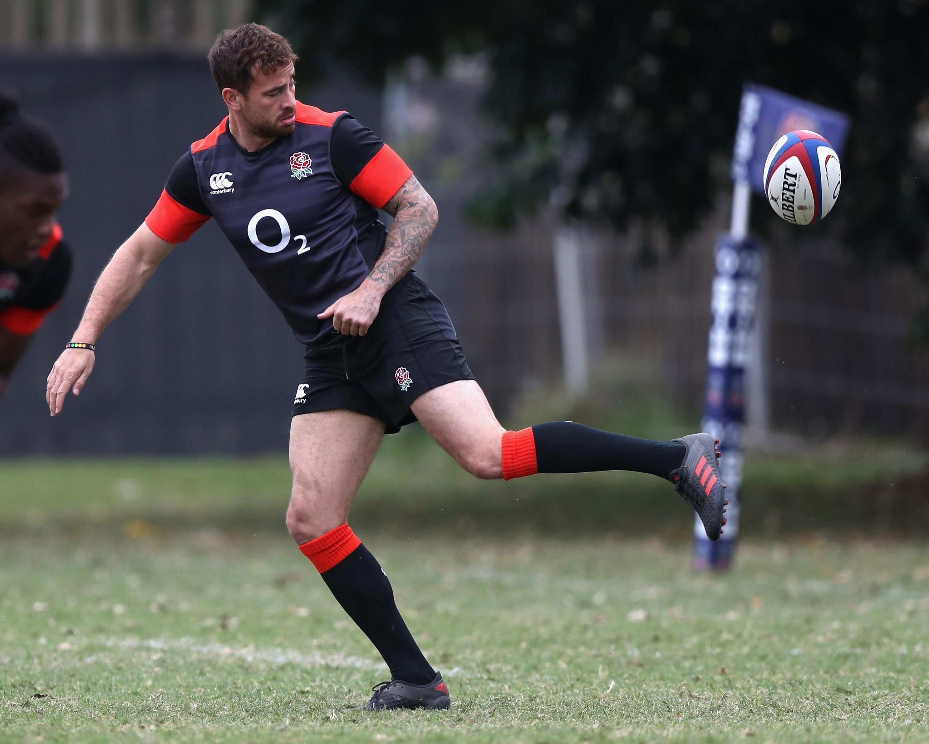 Danny Cipriani trains ahead of his return to the England side