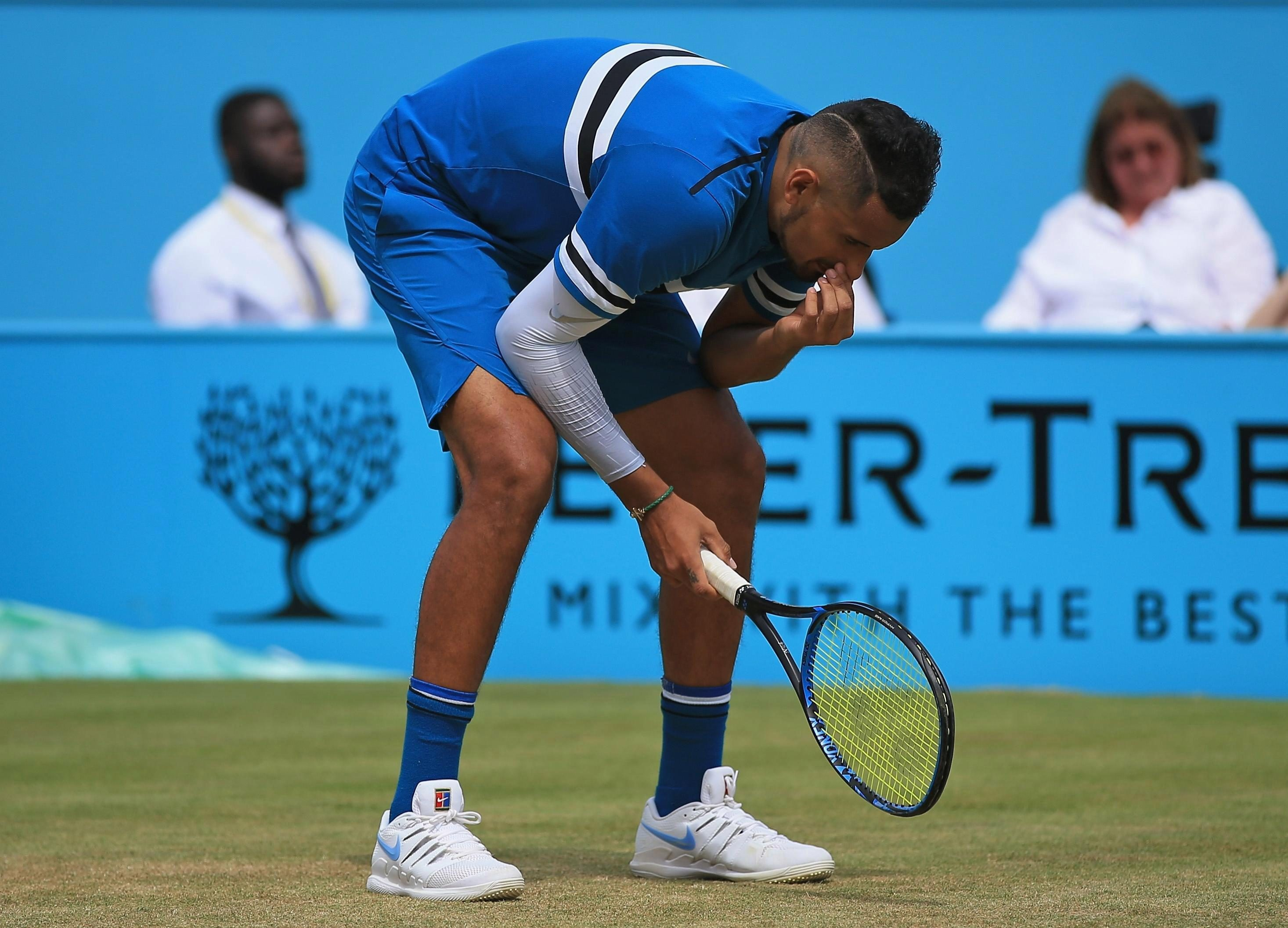 Kyrgios was beaten by Marian Cilic in the Queens semi-final