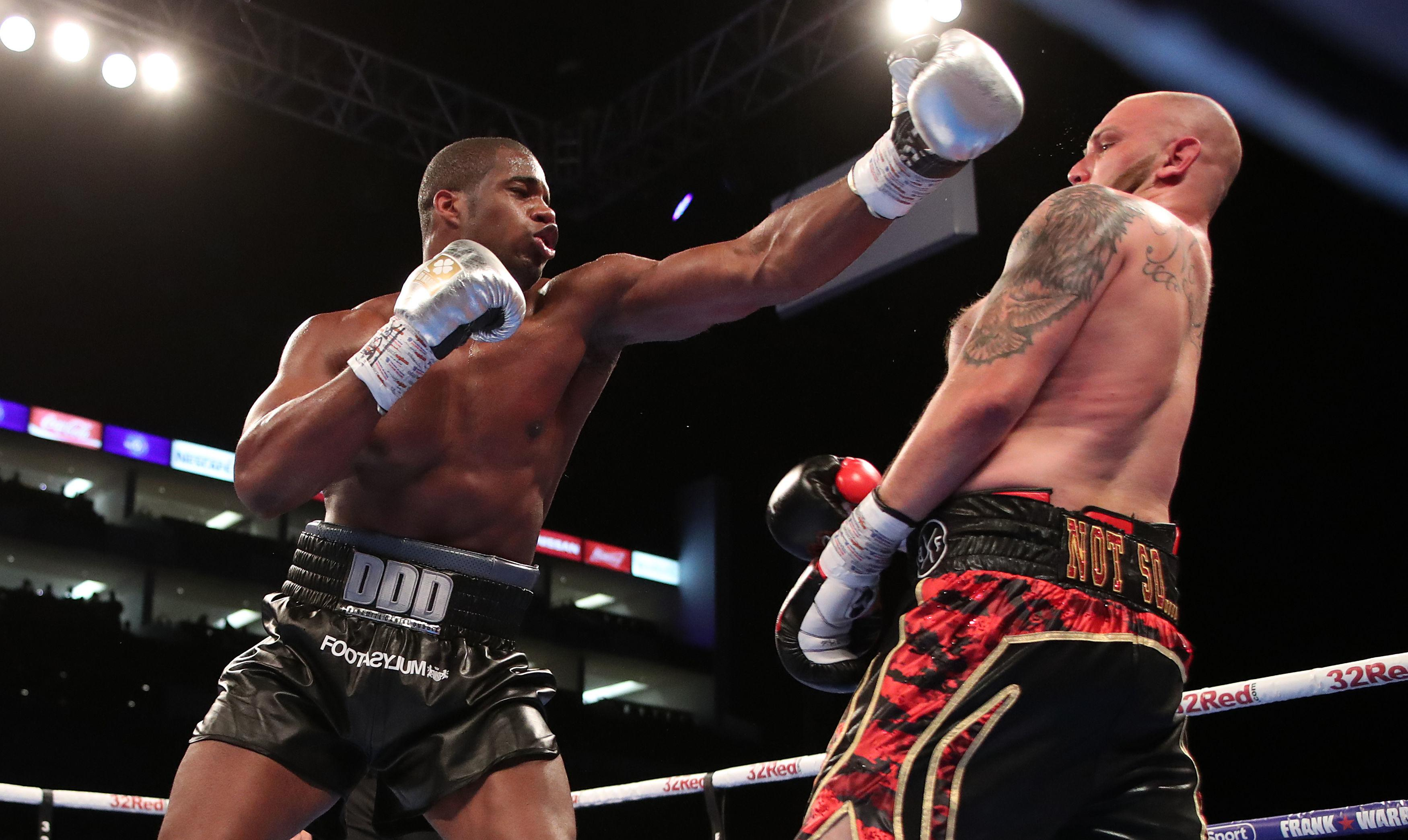 Daniel Dubois cruised past his opponent to win the English title