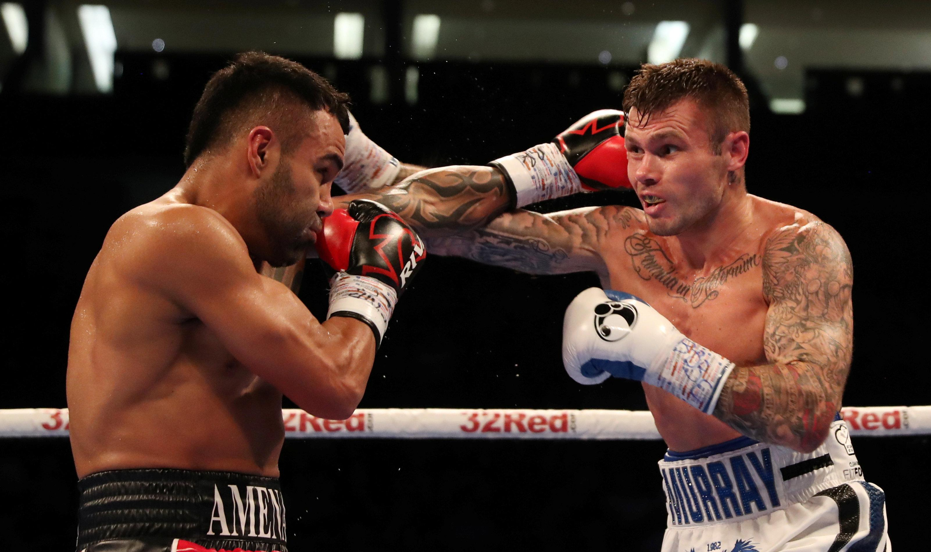 Roberto Garcia and Martin Murray in action at the O2 Arena