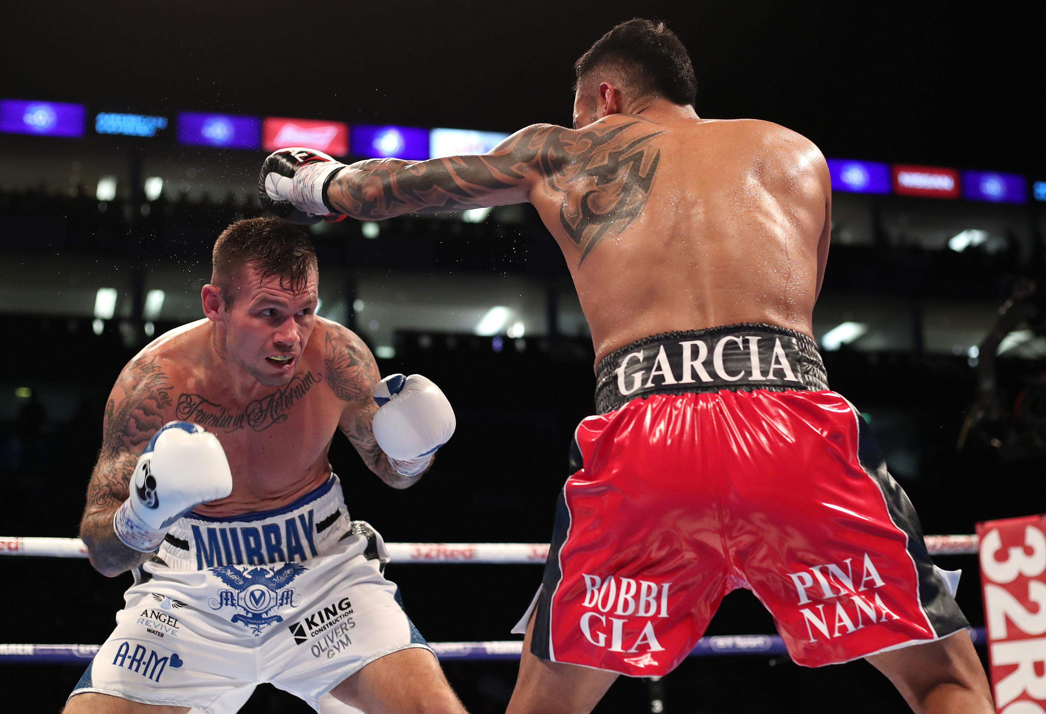 Murray makes Garcia miss during the bout