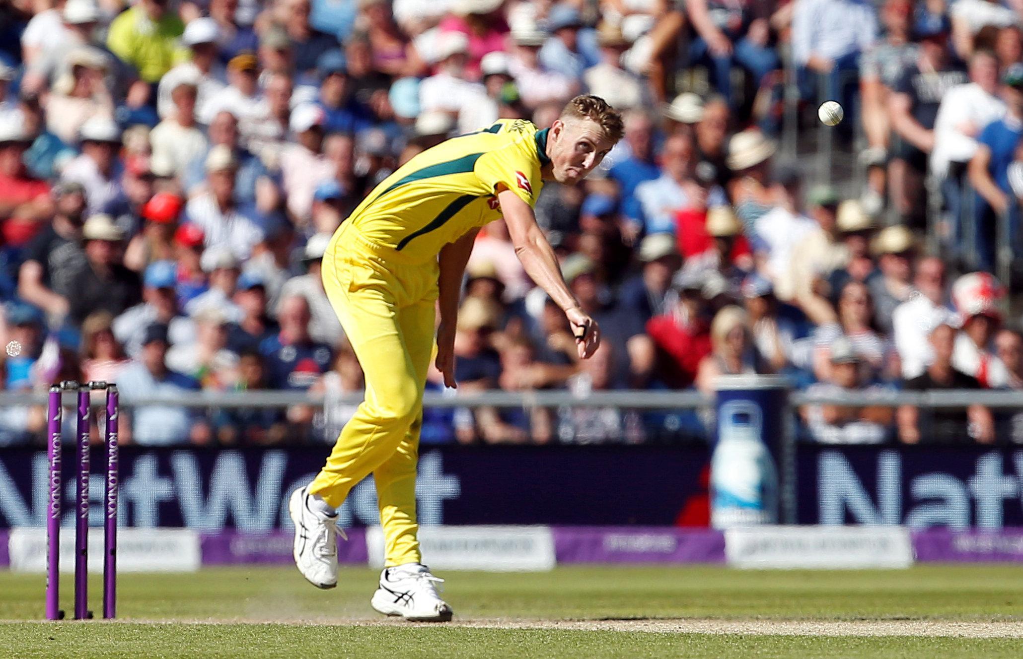 Billy Stanlake took 3-35 as Australia finally found a way through the England top order