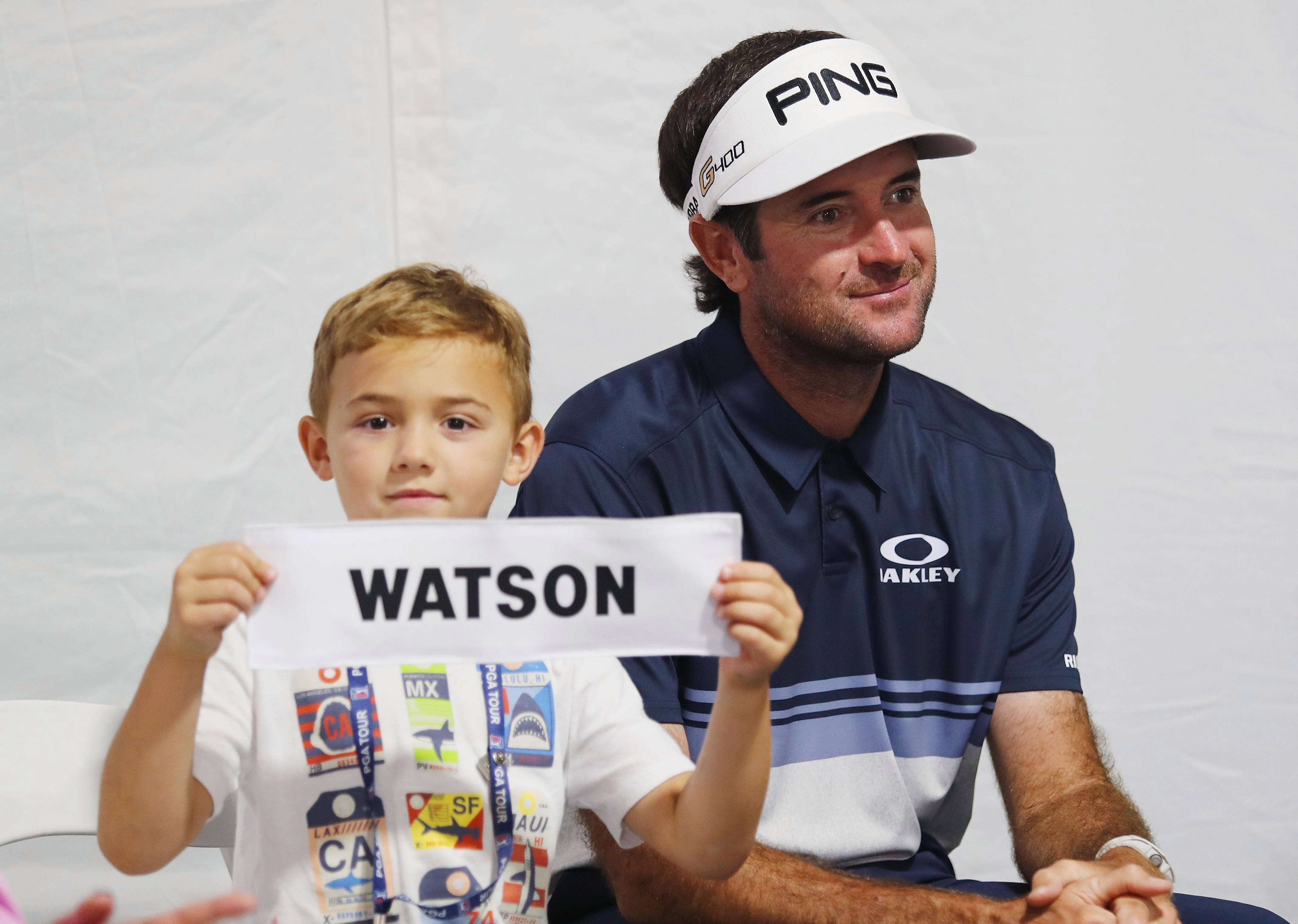 Bubba Watson said son Caleb was rooting for rival JB Holmes to win