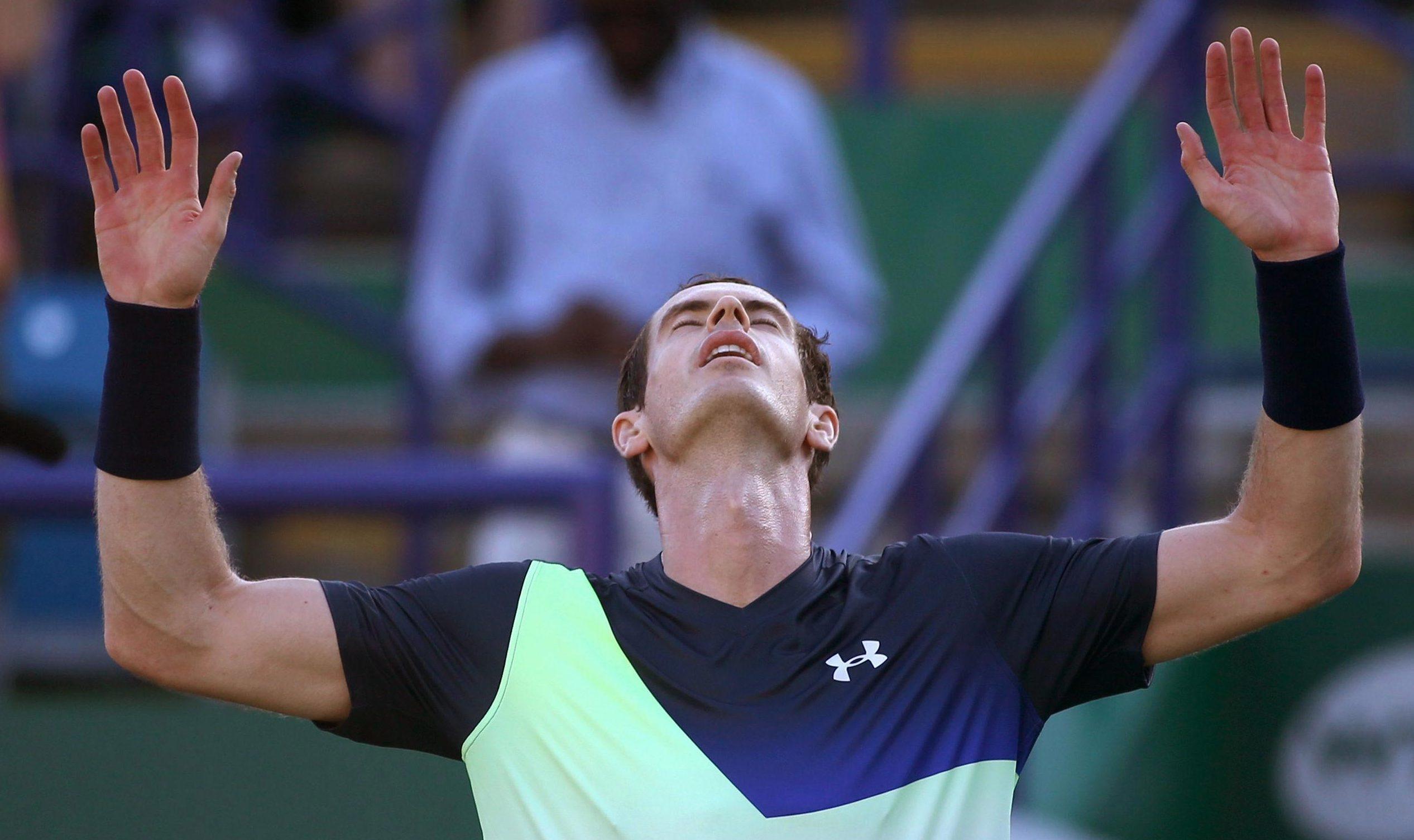 Former world No 1 Andy Murray savours the moment as he beats Stan Wawrinka