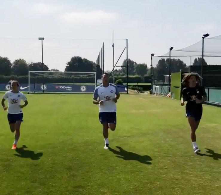 John Terry was back at Cobham as he trained alongside Ethan Ampadu and Karen Carney