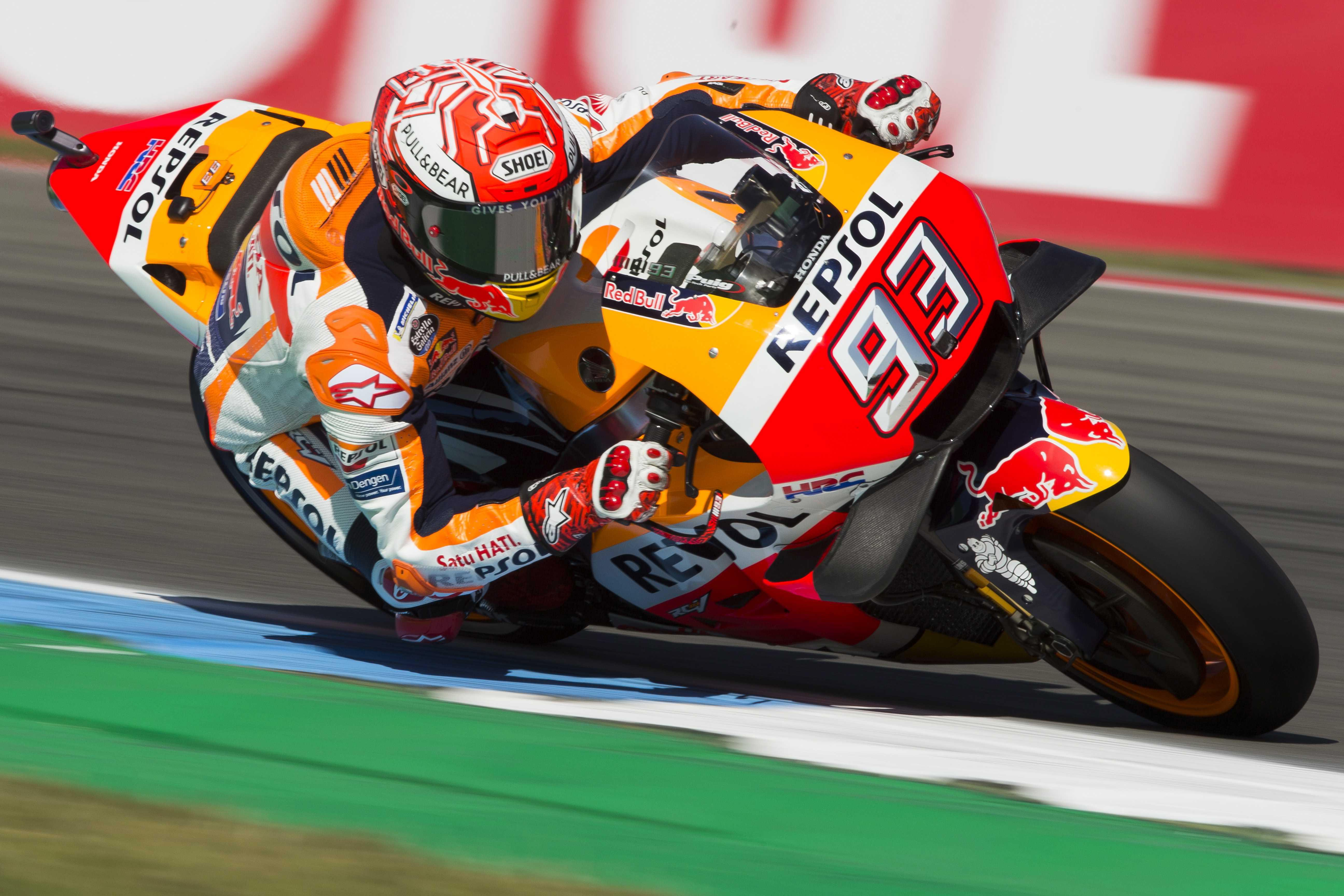 Marc Marquez will not want a repeat of his disastrous experience in Italy where he fell off his bike
