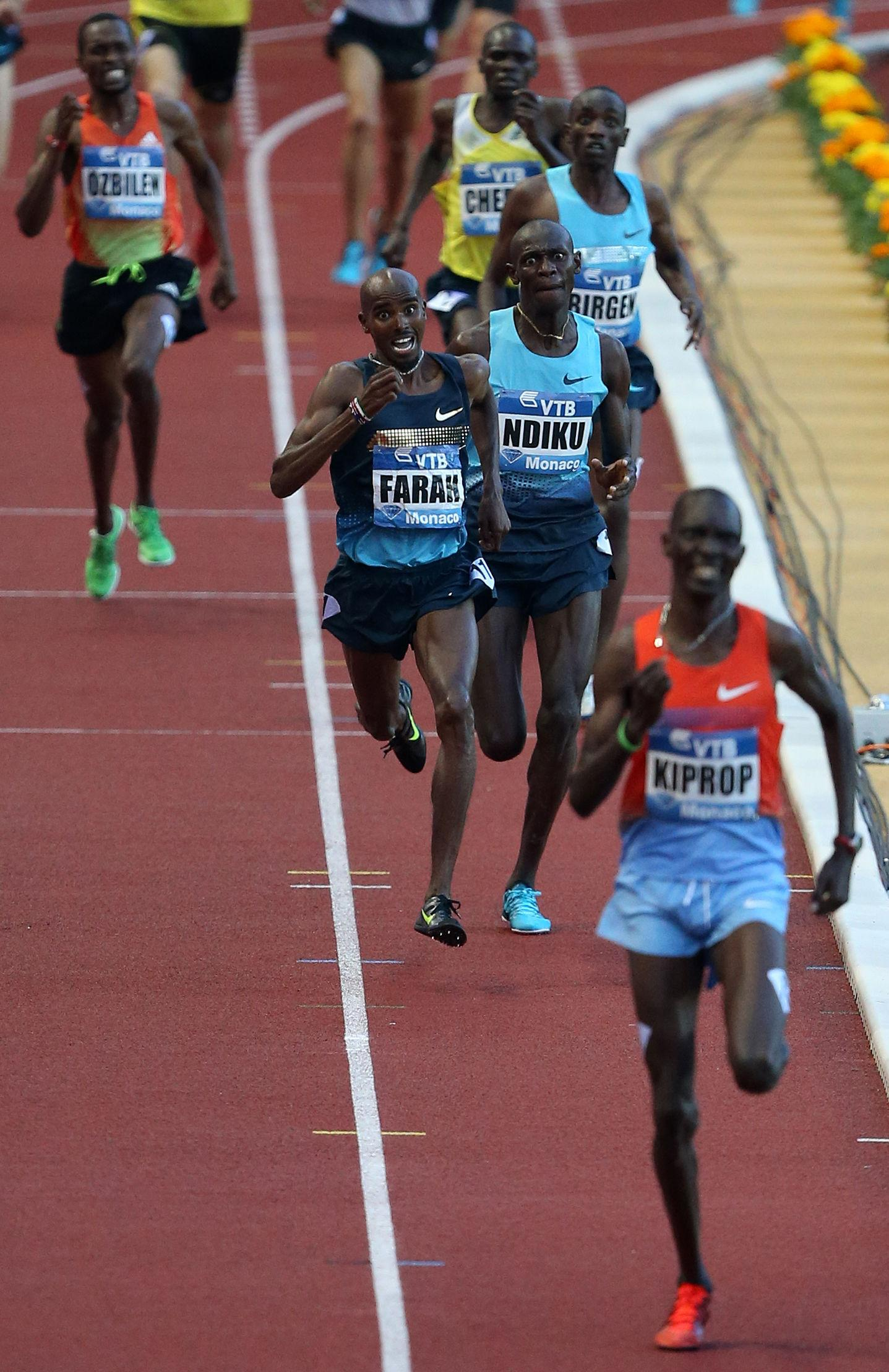 Mo Farah has previously questioned the legitimacy of his1500m win three years ago
