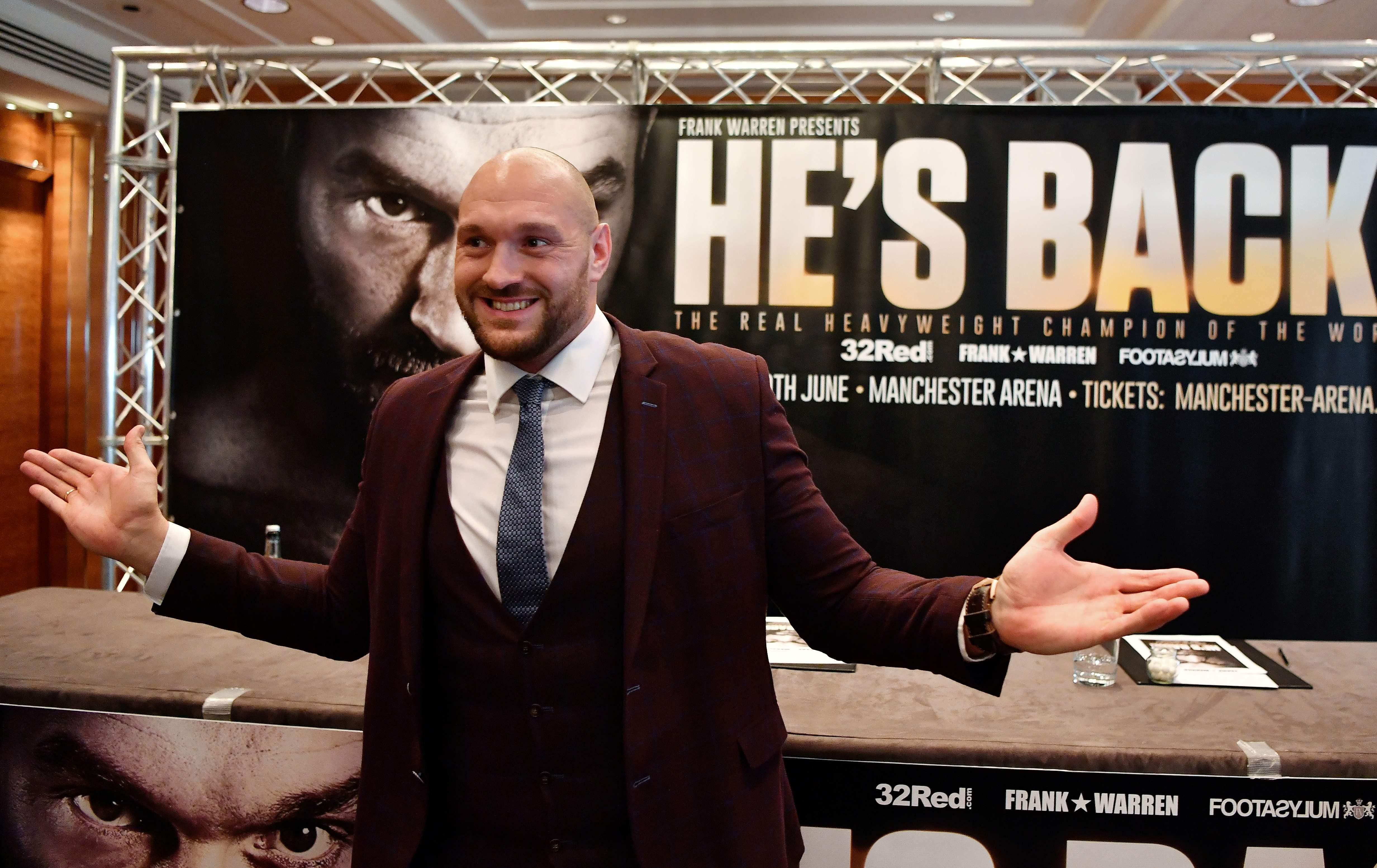 Fury is preparing for his comeback to the ring this weekend