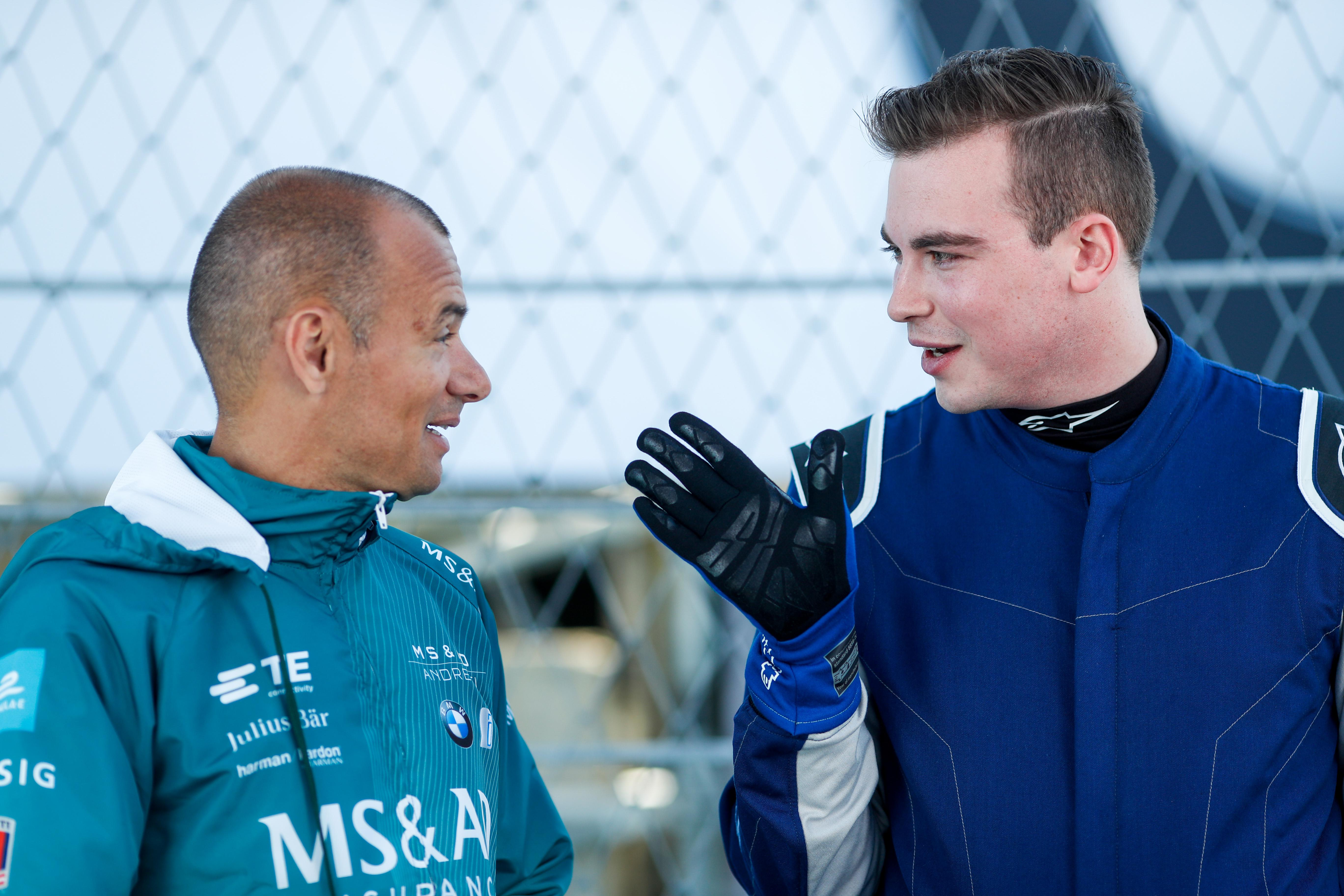 Experienced race driver Stephane Sarrazin gave his advice before hitting the track