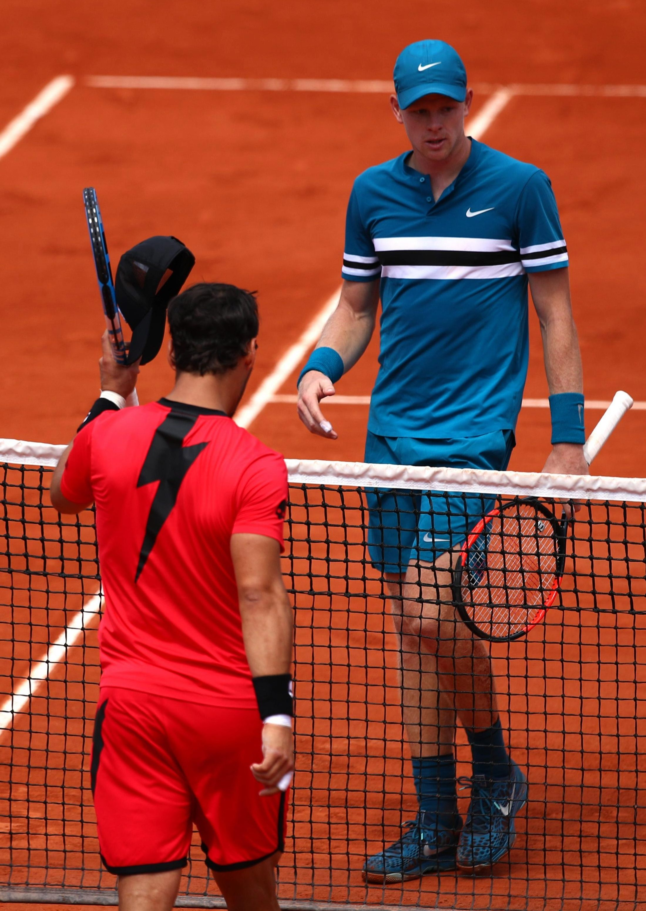 British number one Kyle Edmund lost in the French Open third round against Fabio Fognini