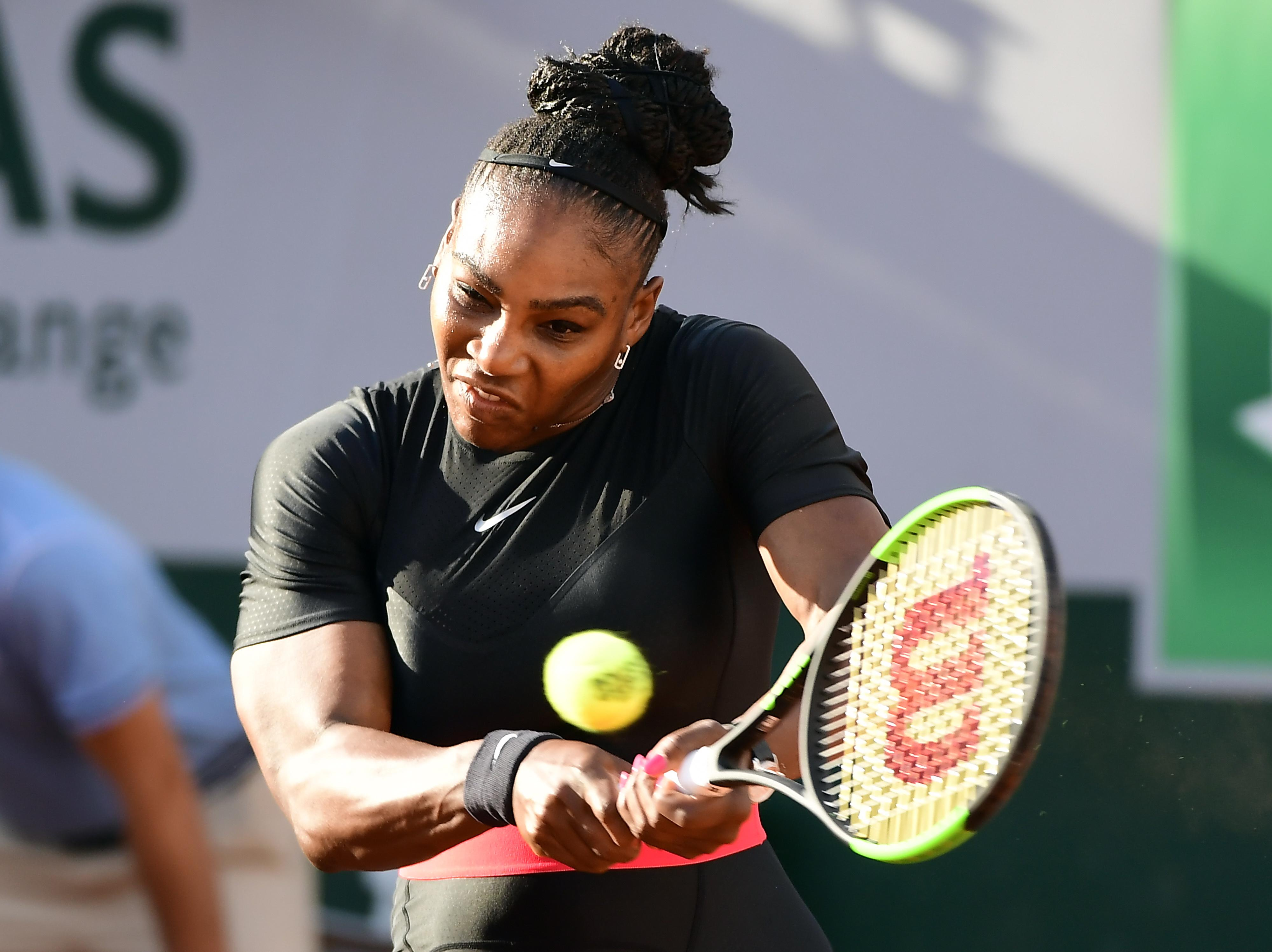 Serena Williams won in straight sets against Julia Goerges