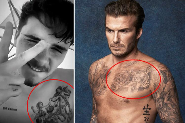 Tattoo David Beckham Angel