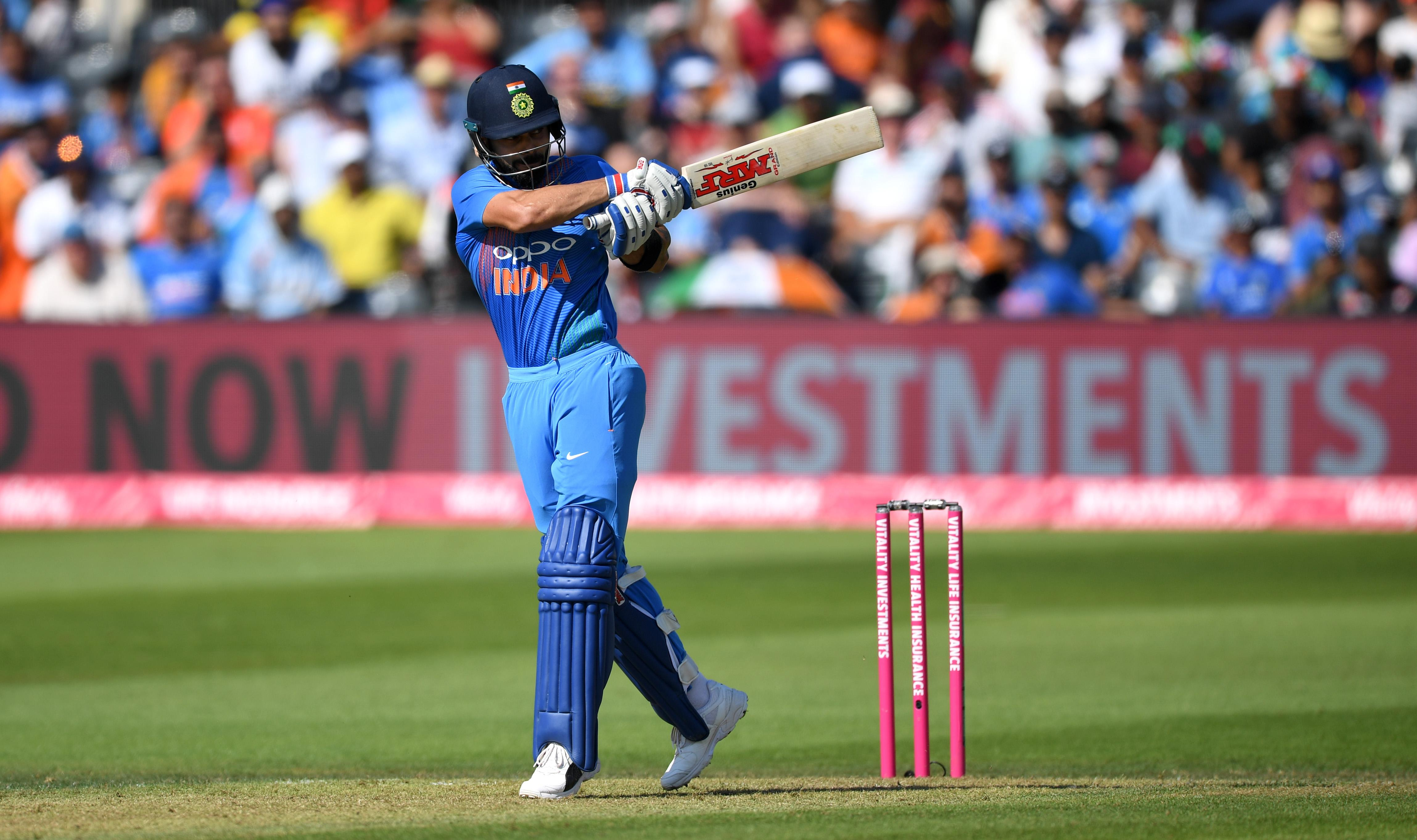 Virat Kohli scored 43 in an excellent chase of 199 as India clinched a 2-1 series win