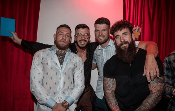 Conor McGregor was celebrating a mate's 30th birthday