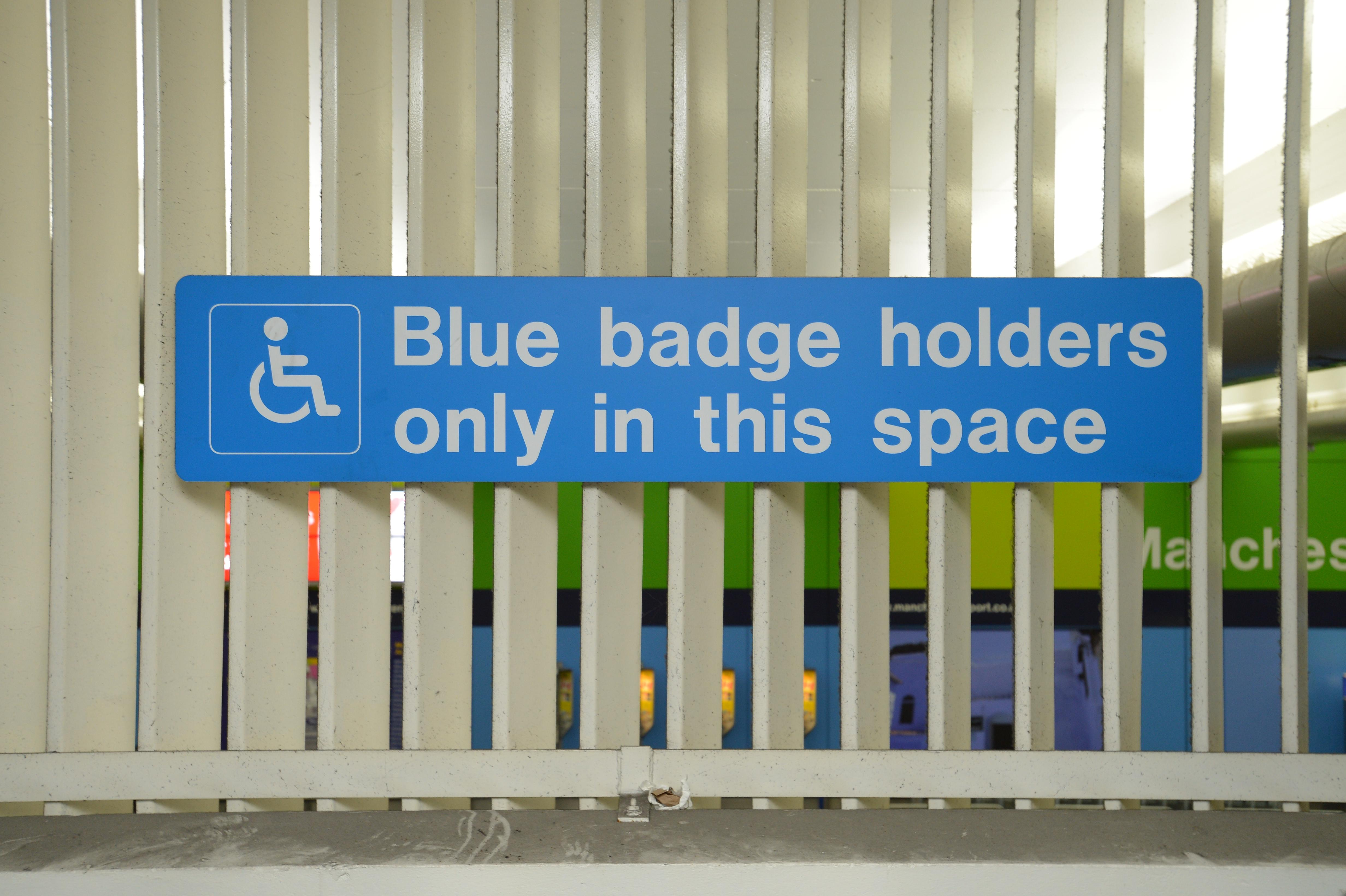 blue badge permits what