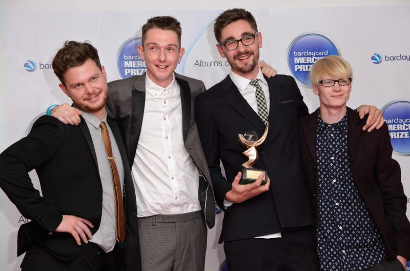 (L-R) Joe Newman, Thom Green, Gus Unger-Hamilton and Gwil Sainsbury at the 2012 Mercury Music Awards
