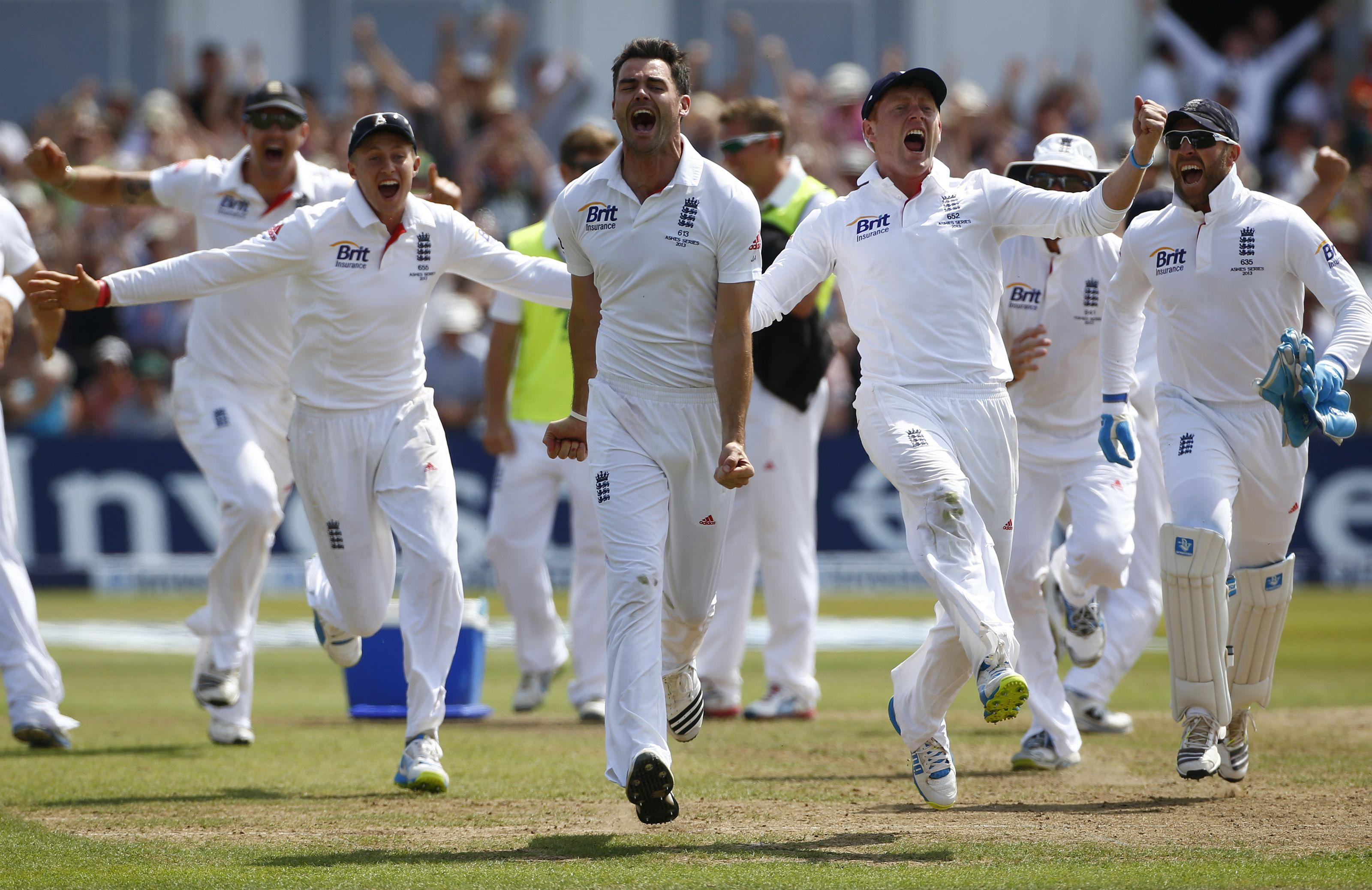 James Anderson took 10 wickets as England beat Australia at Trent Bridge in 2013