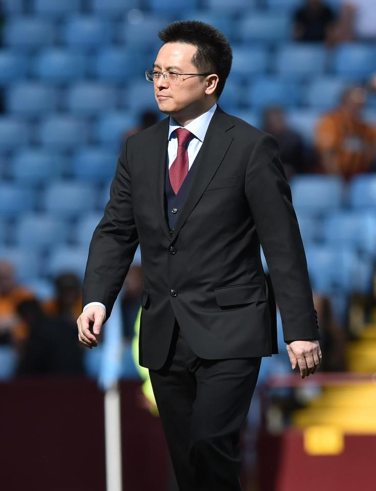 Tony Xia was left facing a £540million black hole in the Villa finances after they failed to gain promotion to the Premier League
