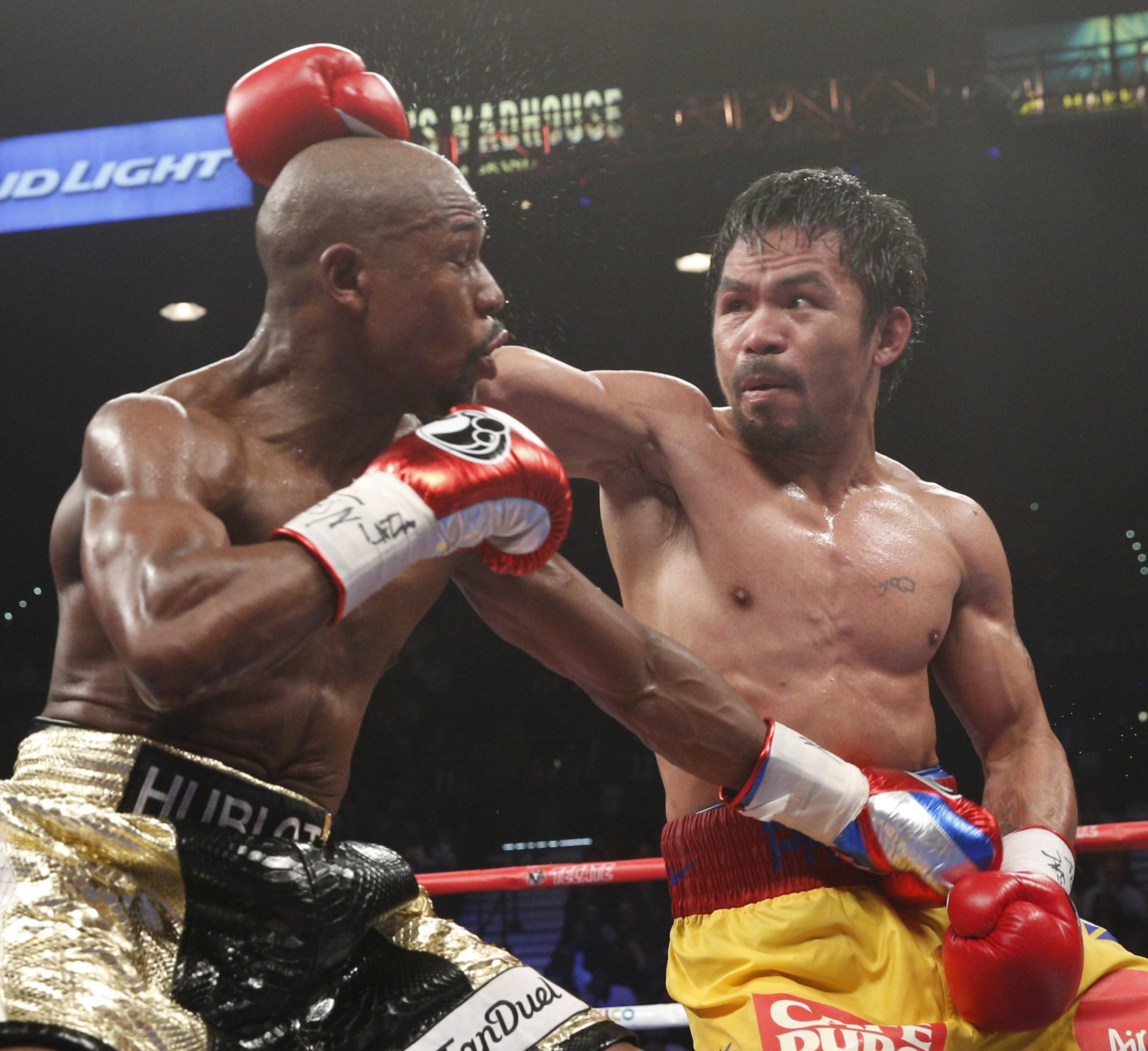 Pacquiao also said he would give Floyd Mayweather a shot at his WBA welterweight title in a rematch of their 2015 fight which he lost via a unanimous decision