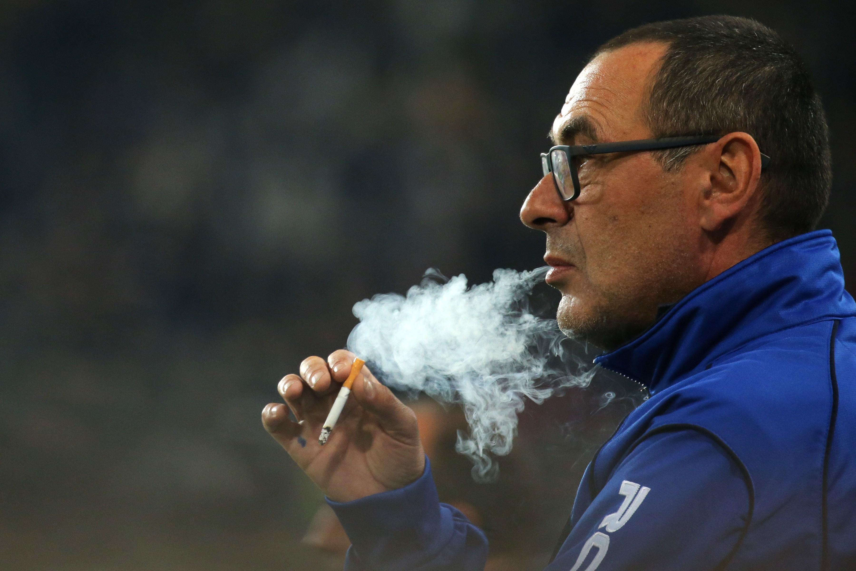 Chain-smoking Sarri has a 60-a-day habit