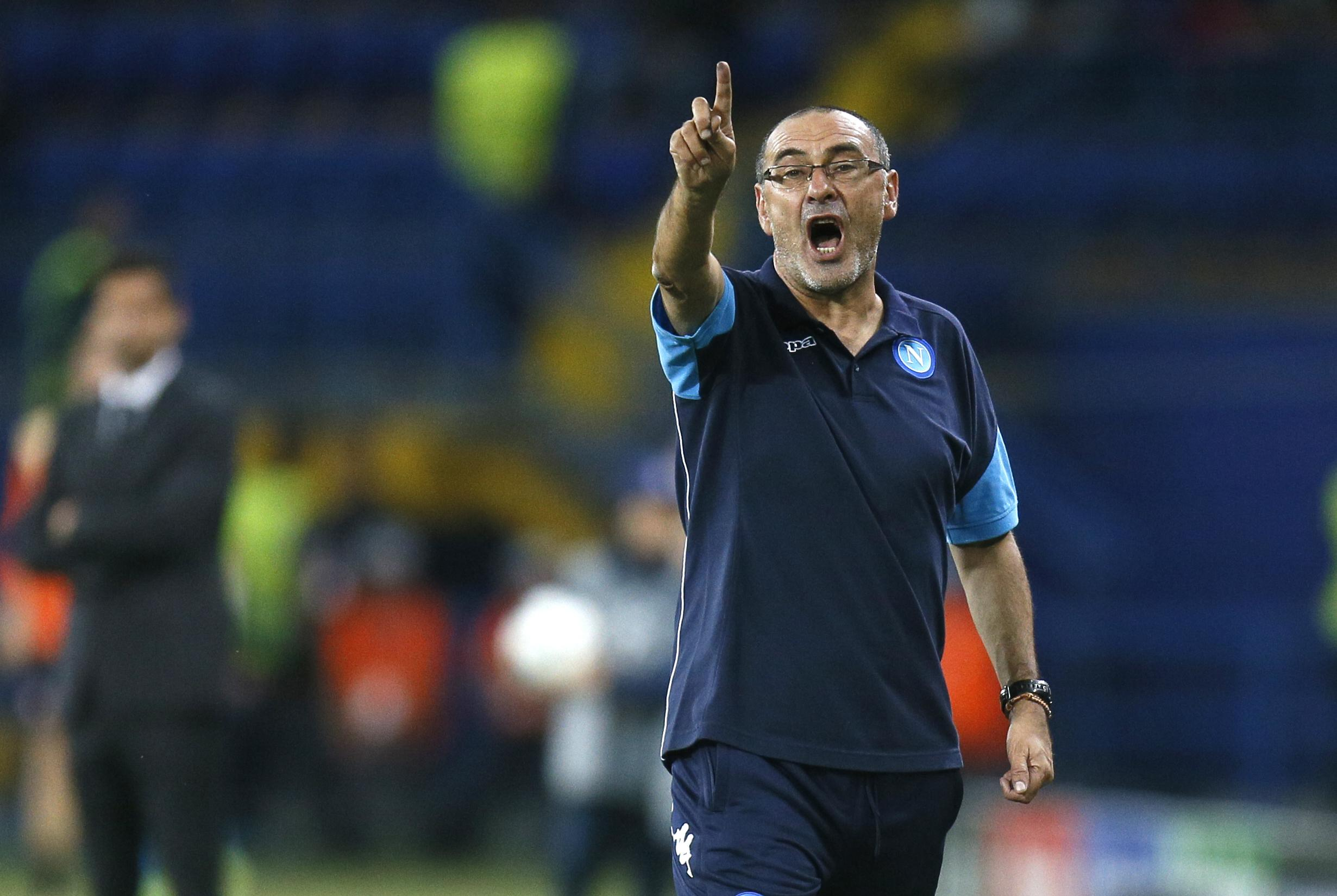 During his time at Napoli, Sarri switched between training pitches when on a winning run