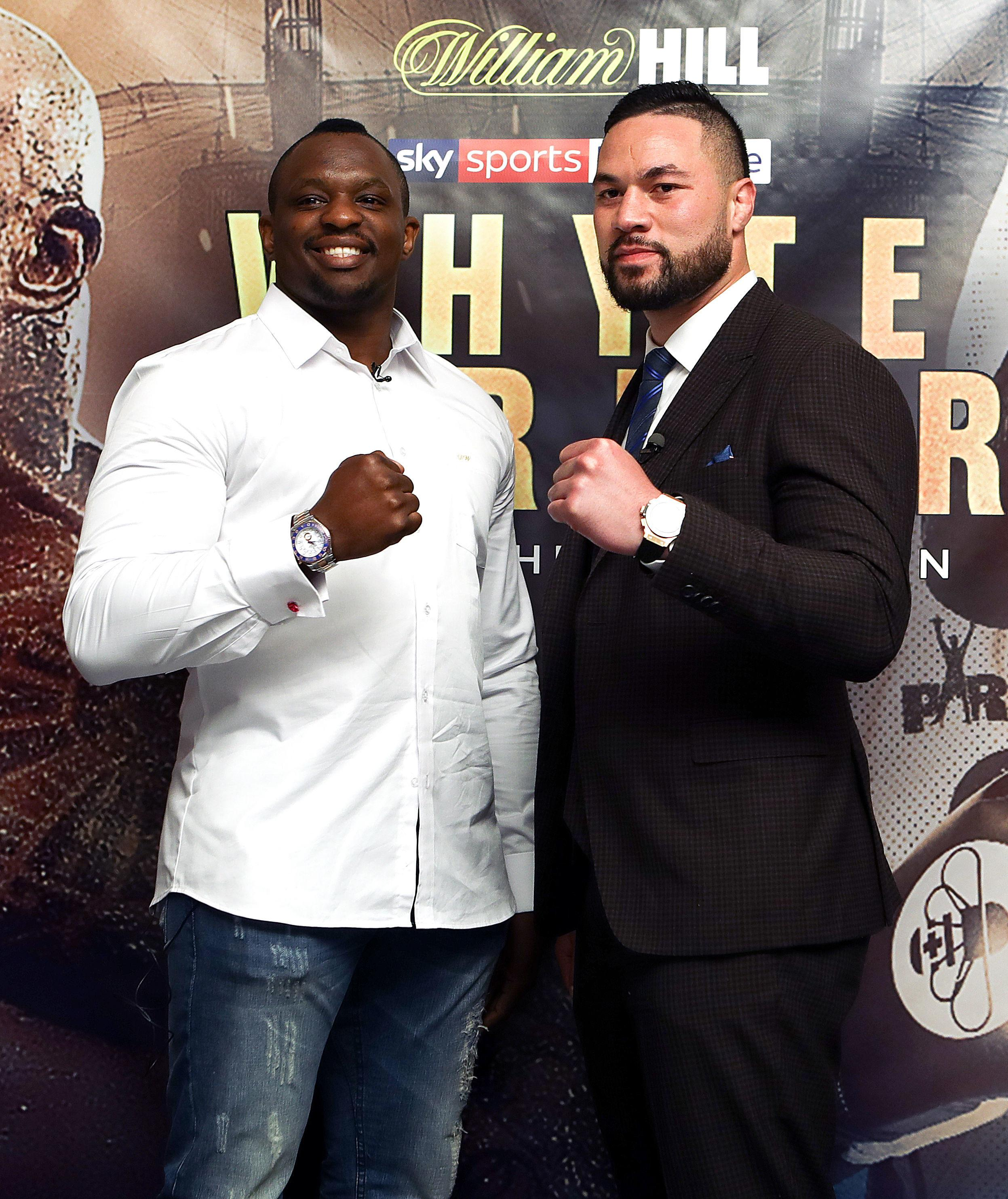 Dillian Whyte has landed the first punch already on Joseph Parker ahead of next weekend's fight