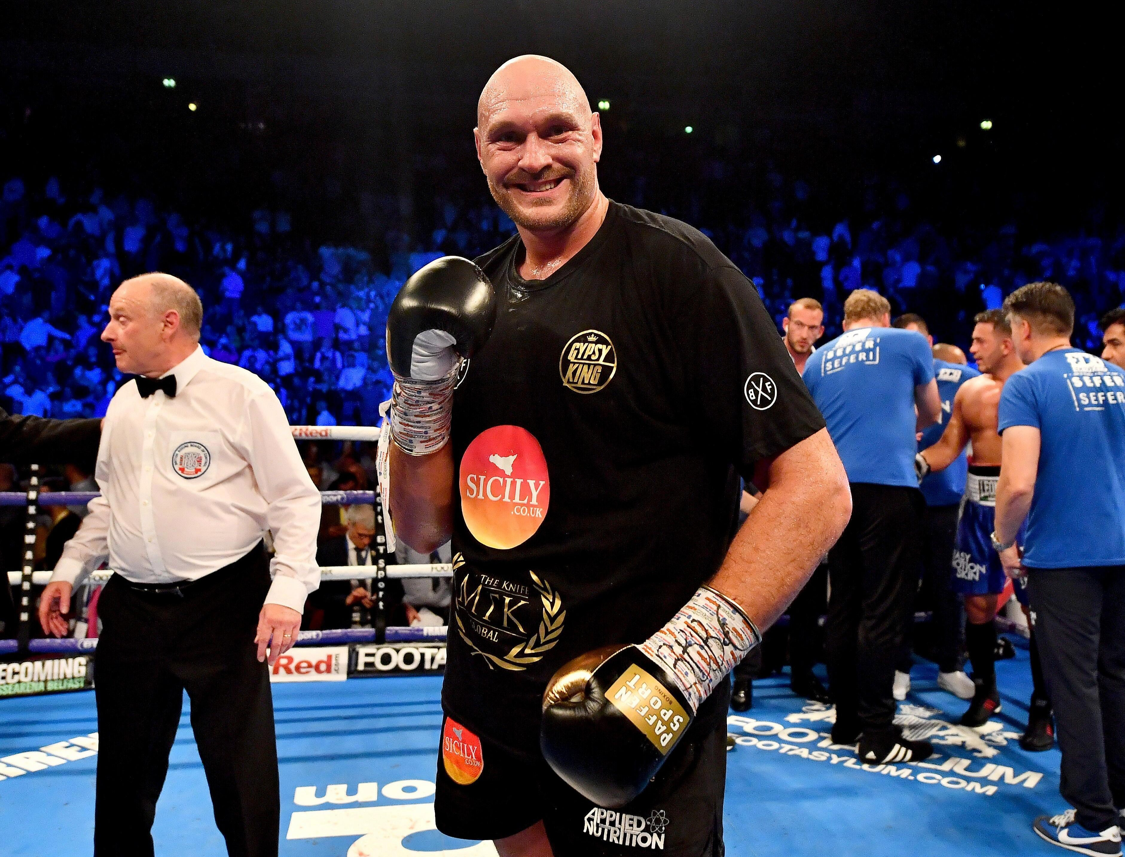Fury won the farcical contest against the Albanian in his first fight for two years