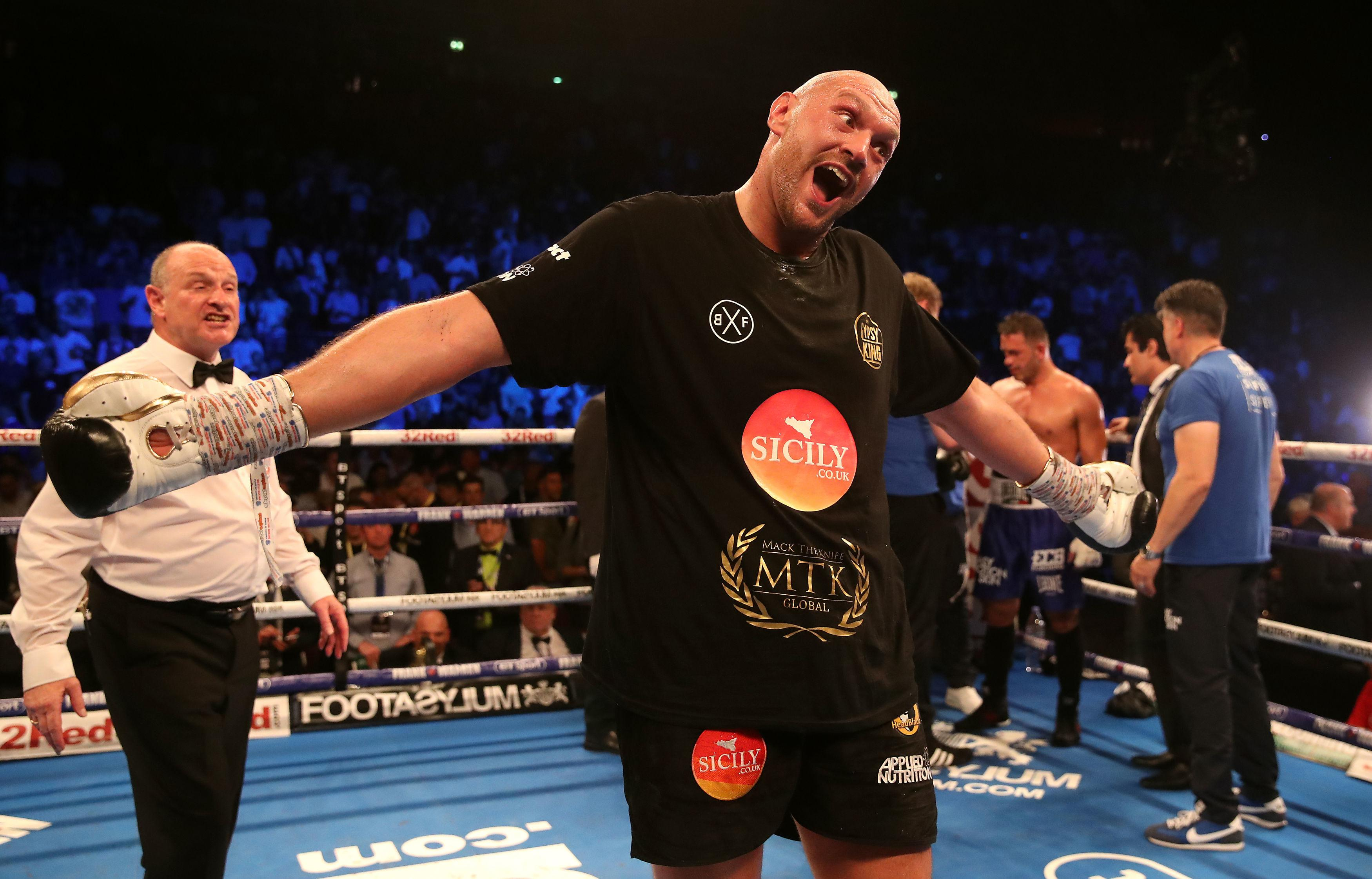Fury is in a good mood after making a successful return to the ring