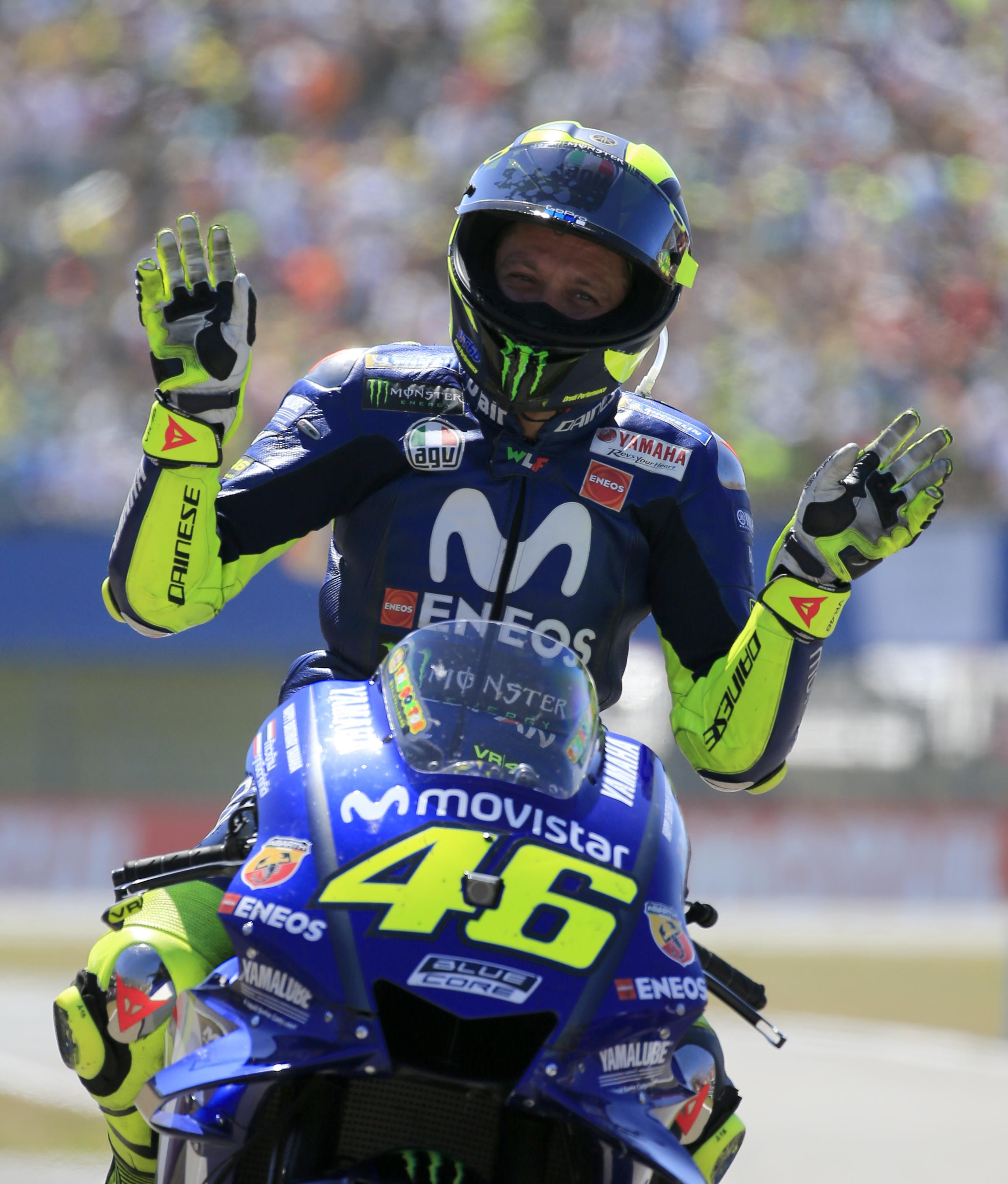 Valentino Rossi was the biggest loser during the epic battle royale at the front of the race in Holland