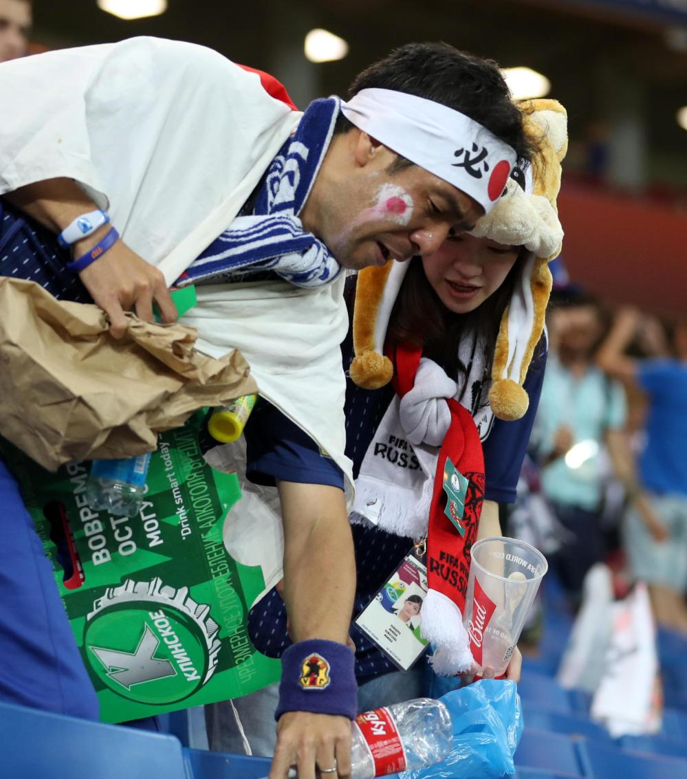 Despite their disappointments, Japan supporters have won the prize for the best set of fans