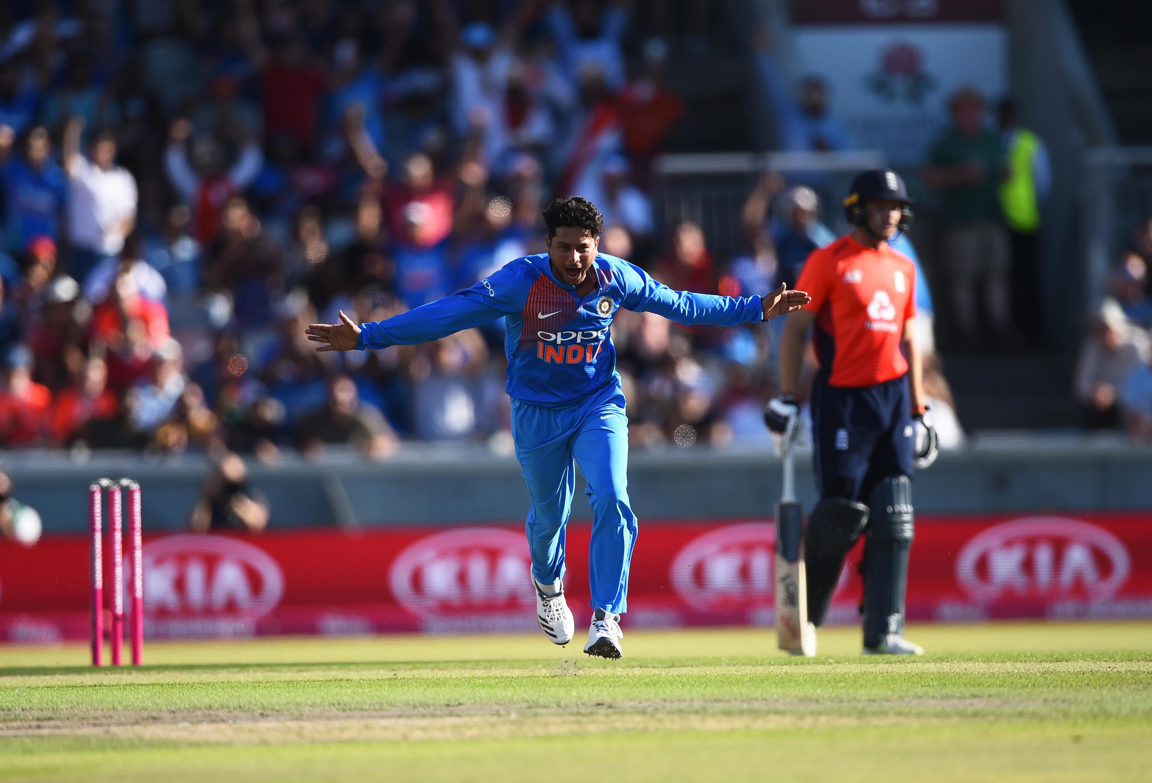 Kuldeep Yadav took five wickets in a brilliant spell to limit England to 159